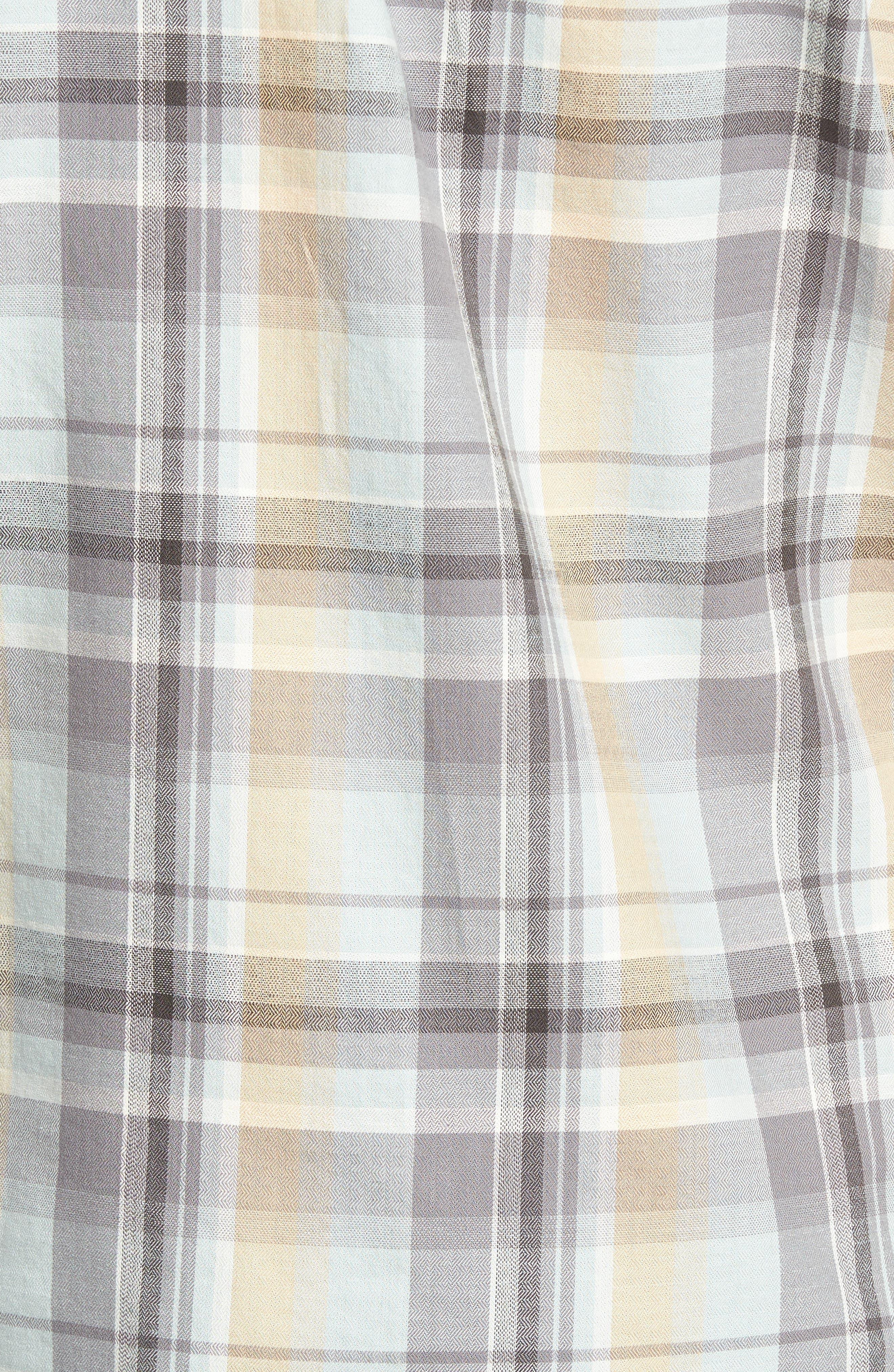Cecil Regular Fit Herringbone Plaid Sport Shirt,                             Alternate thumbnail 5, color,                             459