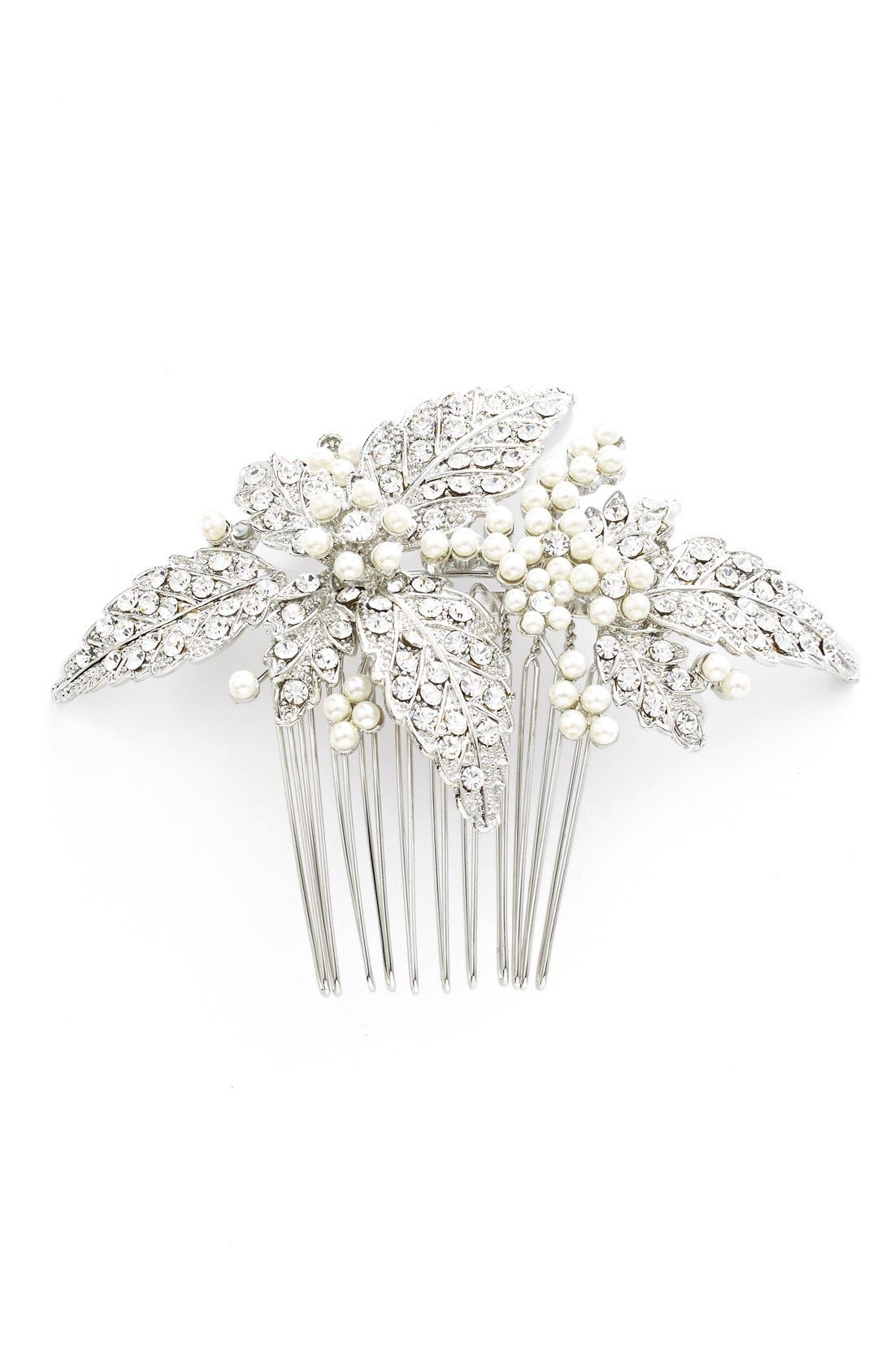 Glass Pearl Hair Comb,                         Main,                         color,