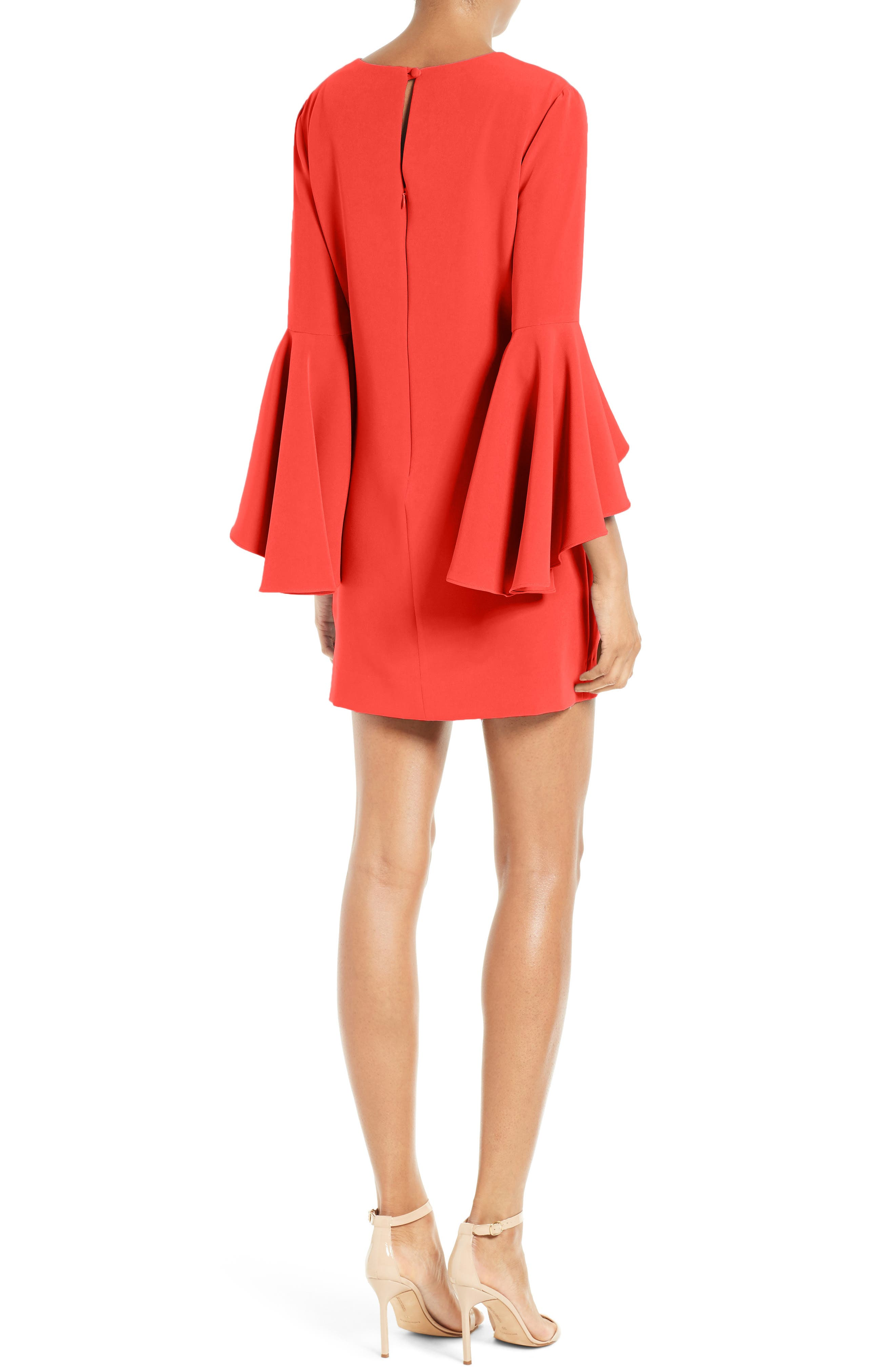 Nicole Bell Sleeve Dress,                             Alternate thumbnail 26, color,