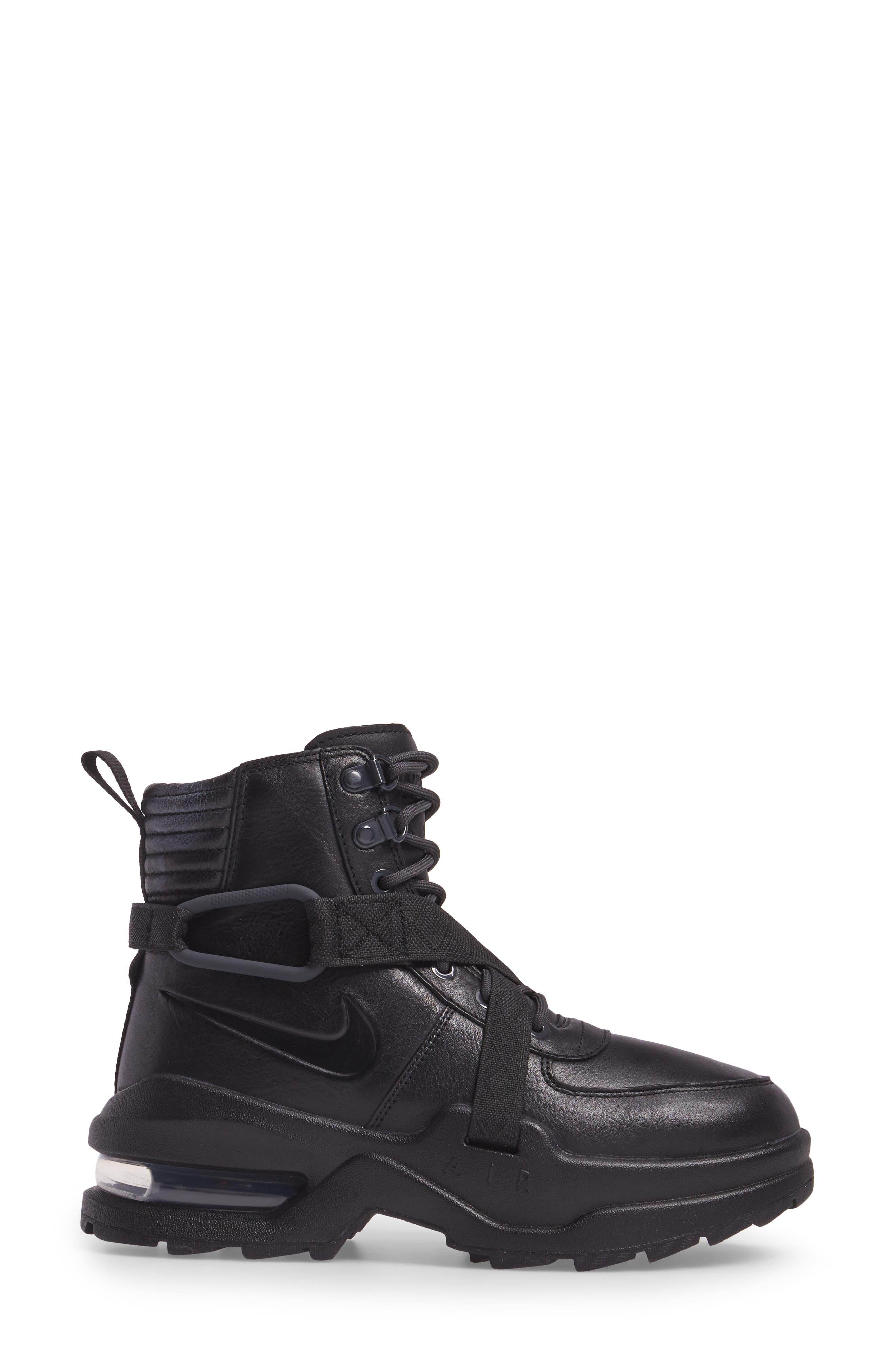 Air Max Goadome Sneaker Boot,                             Alternate thumbnail 3, color,                             BLACK/ ANTHRACITE/ BLACK