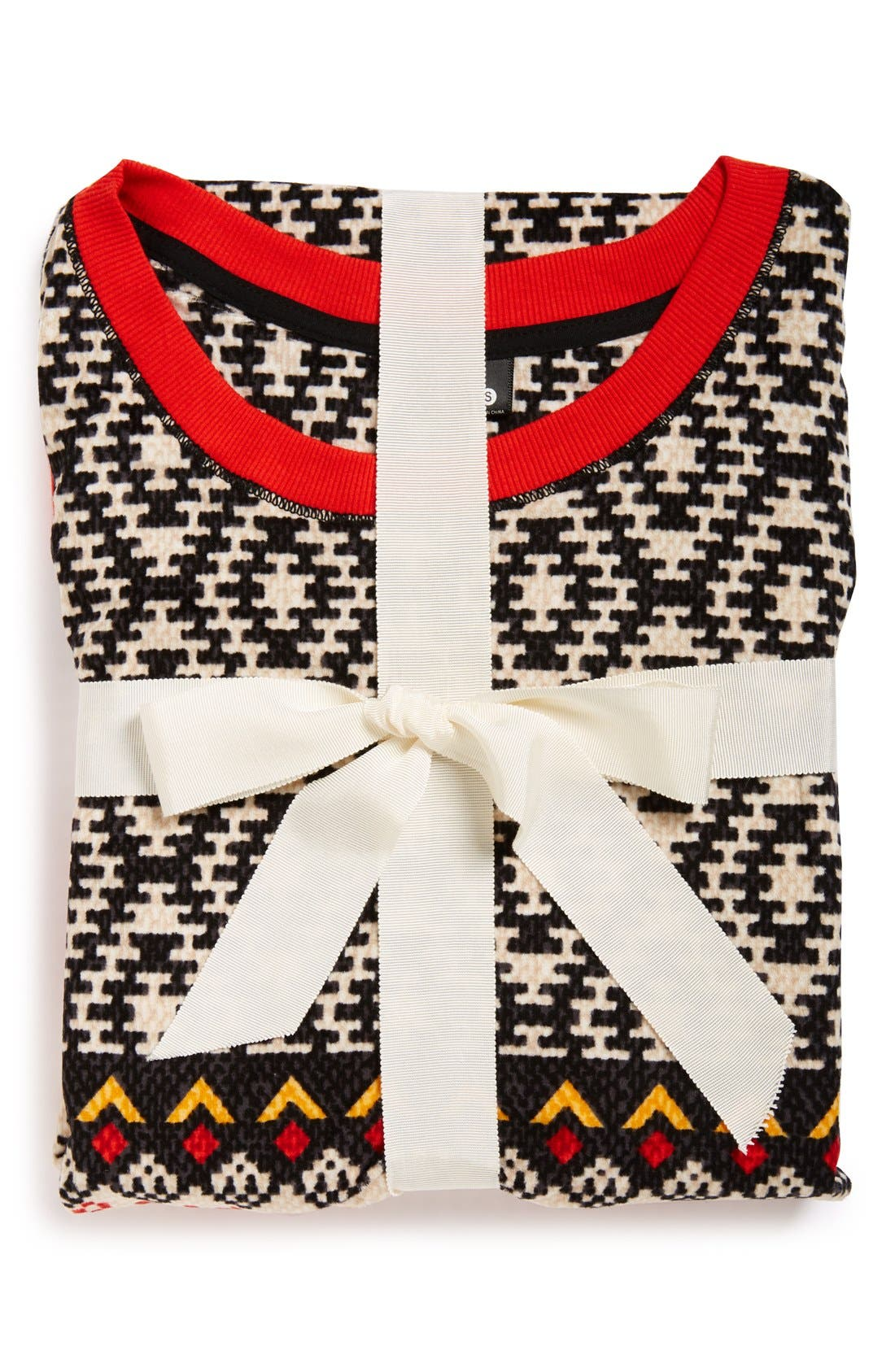 KENSIE,                             'ArcticChill' Knit Pajamas,                             Alternate thumbnail 4, color,                             015