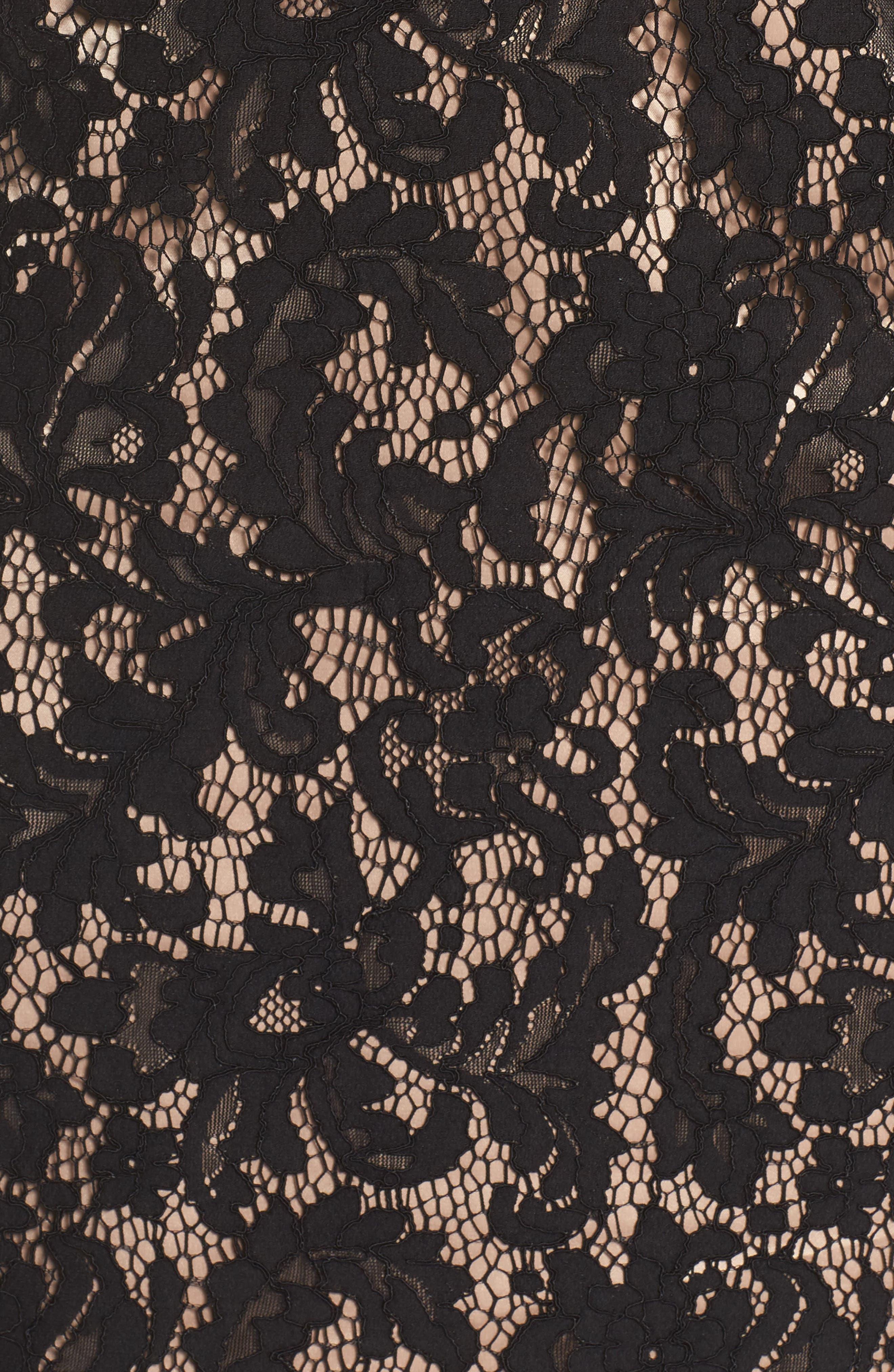 Illusion Lace Sheath Dress,                             Alternate thumbnail 6, color,                             015