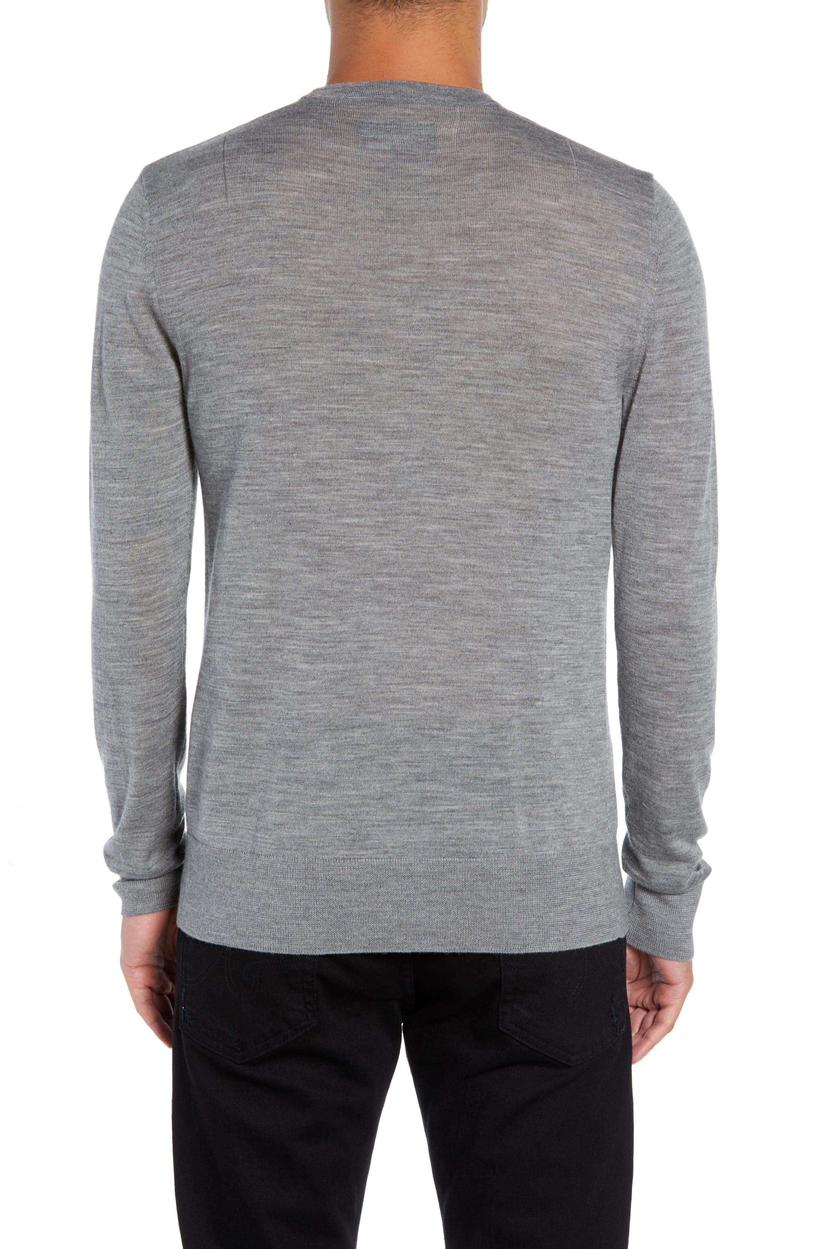 Mode Slim Fit Merino Wool Sweater,                             Alternate thumbnail 10, color,