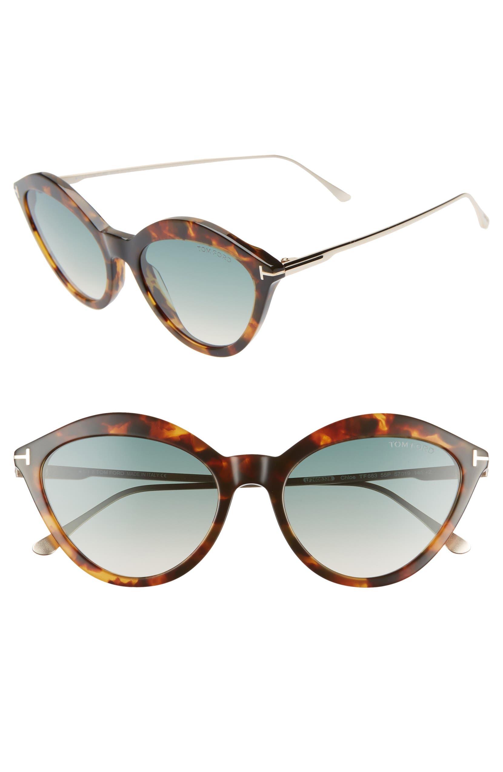 f92004b17b Tom Ford Chloe 57mm Cat Eye Sunglasses
