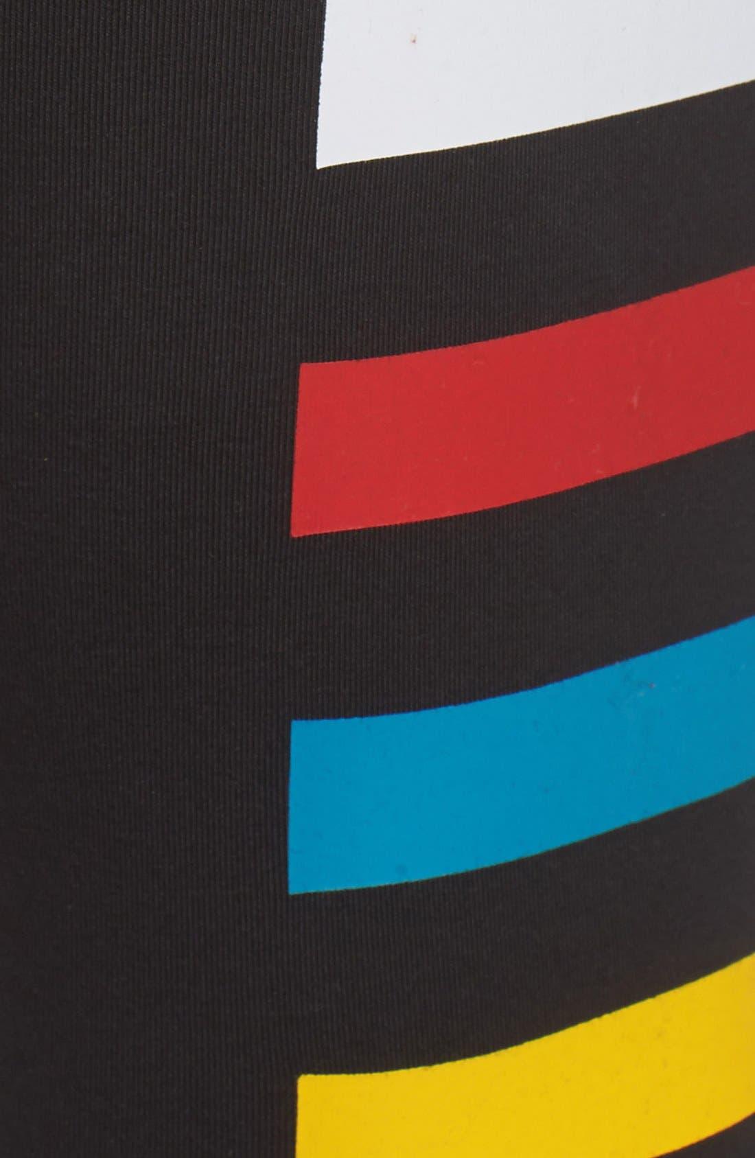 ADIDAS,                             Originals Colorblock Stretch Cotton Leggings,                             Alternate thumbnail 3, color,                             001