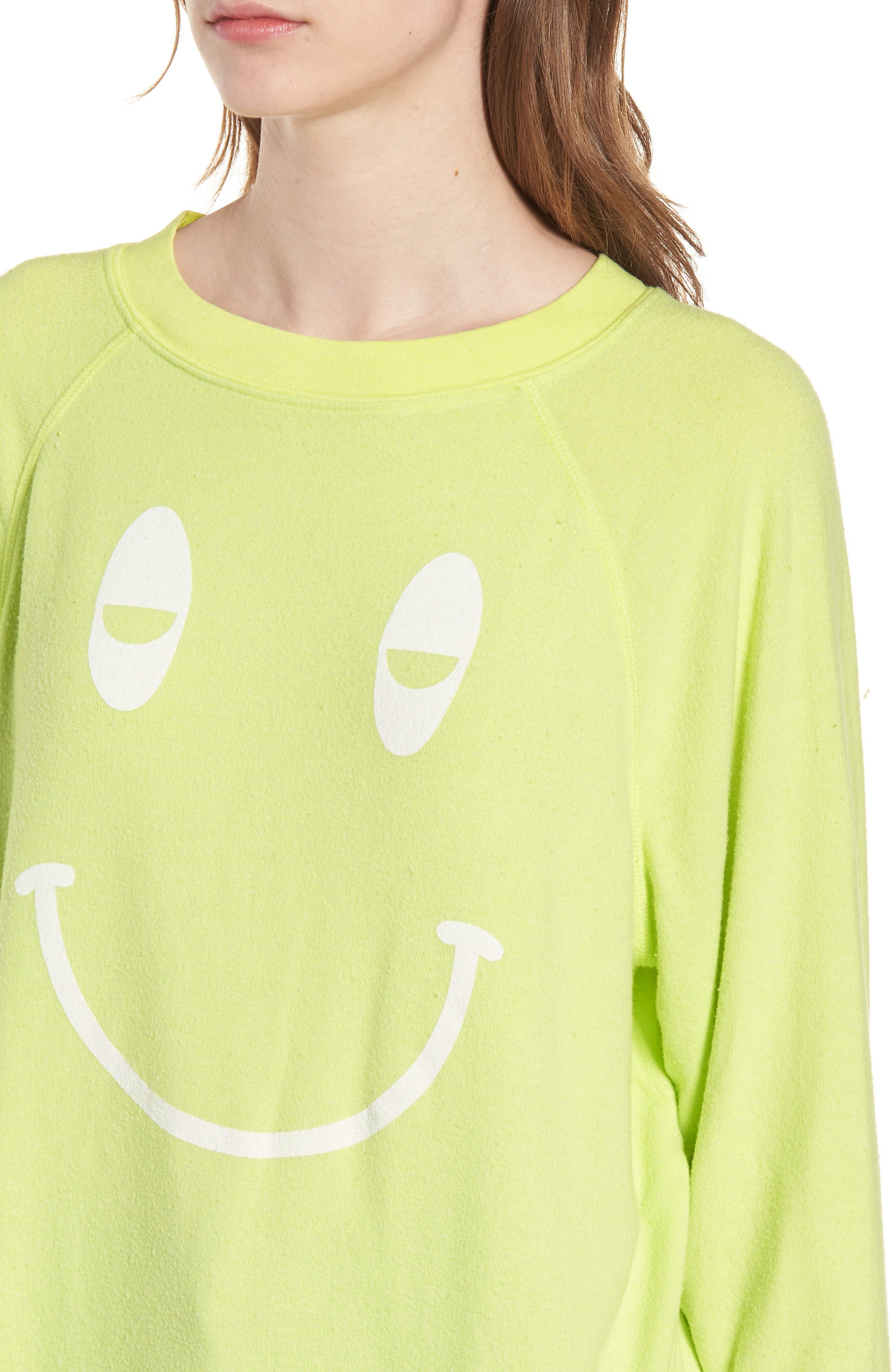 Sleepy Smiley Sommers Sweatshirt,                             Alternate thumbnail 4, color,