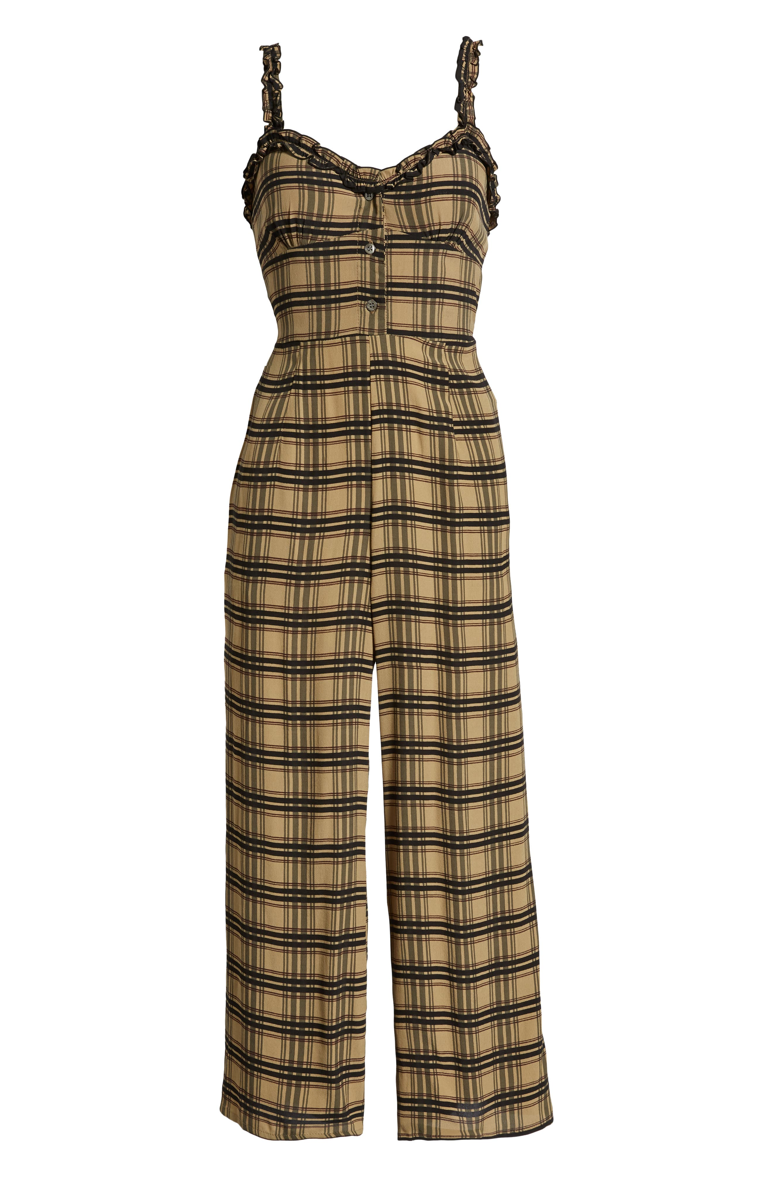 Cancun Plaid Jumpsuit,                             Alternate thumbnail 4, color,                             HILLARY PRINT