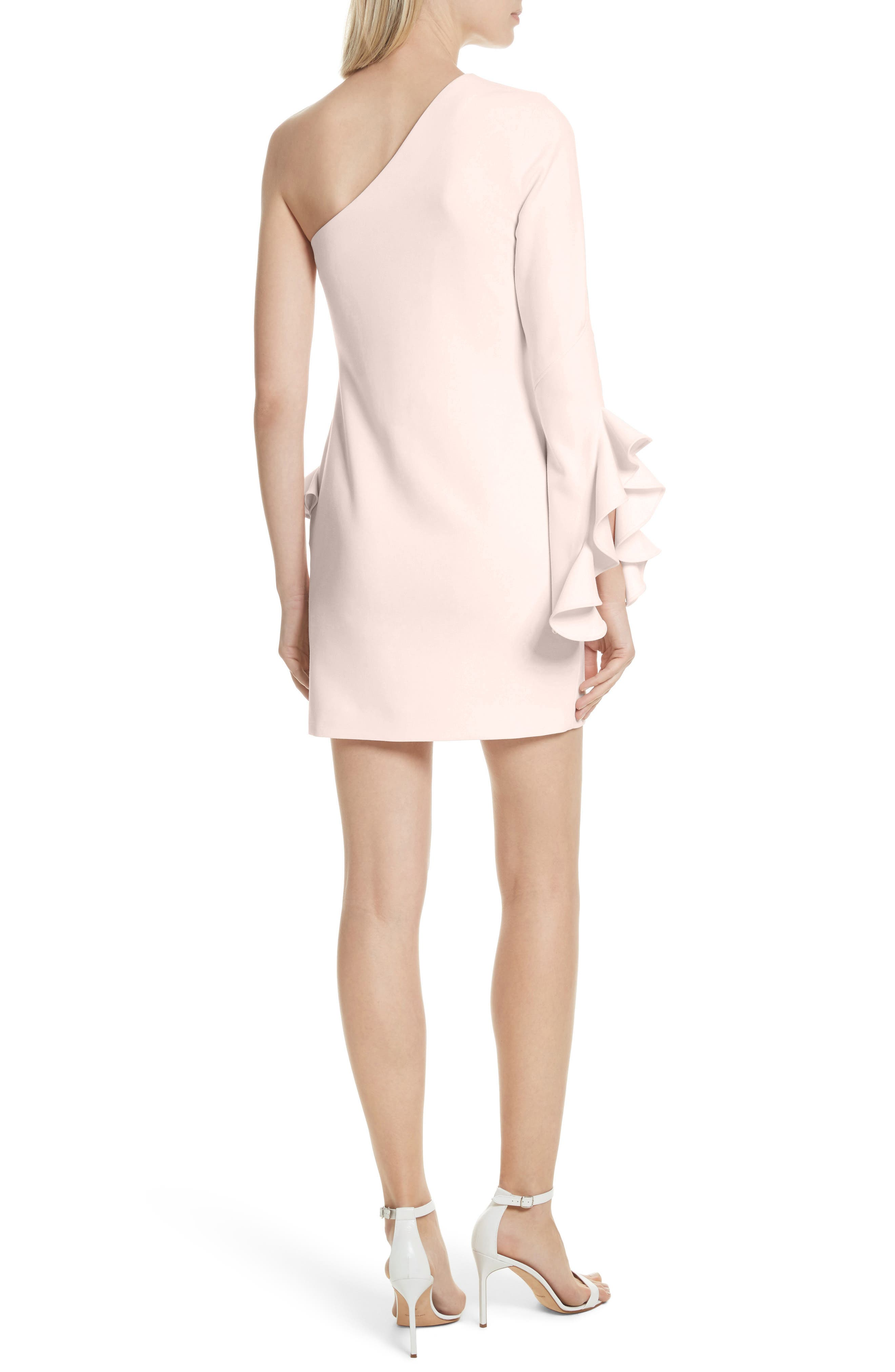 Pia Ruffle Trim One-Shoulder Dress,                             Alternate thumbnail 2, color,                             656