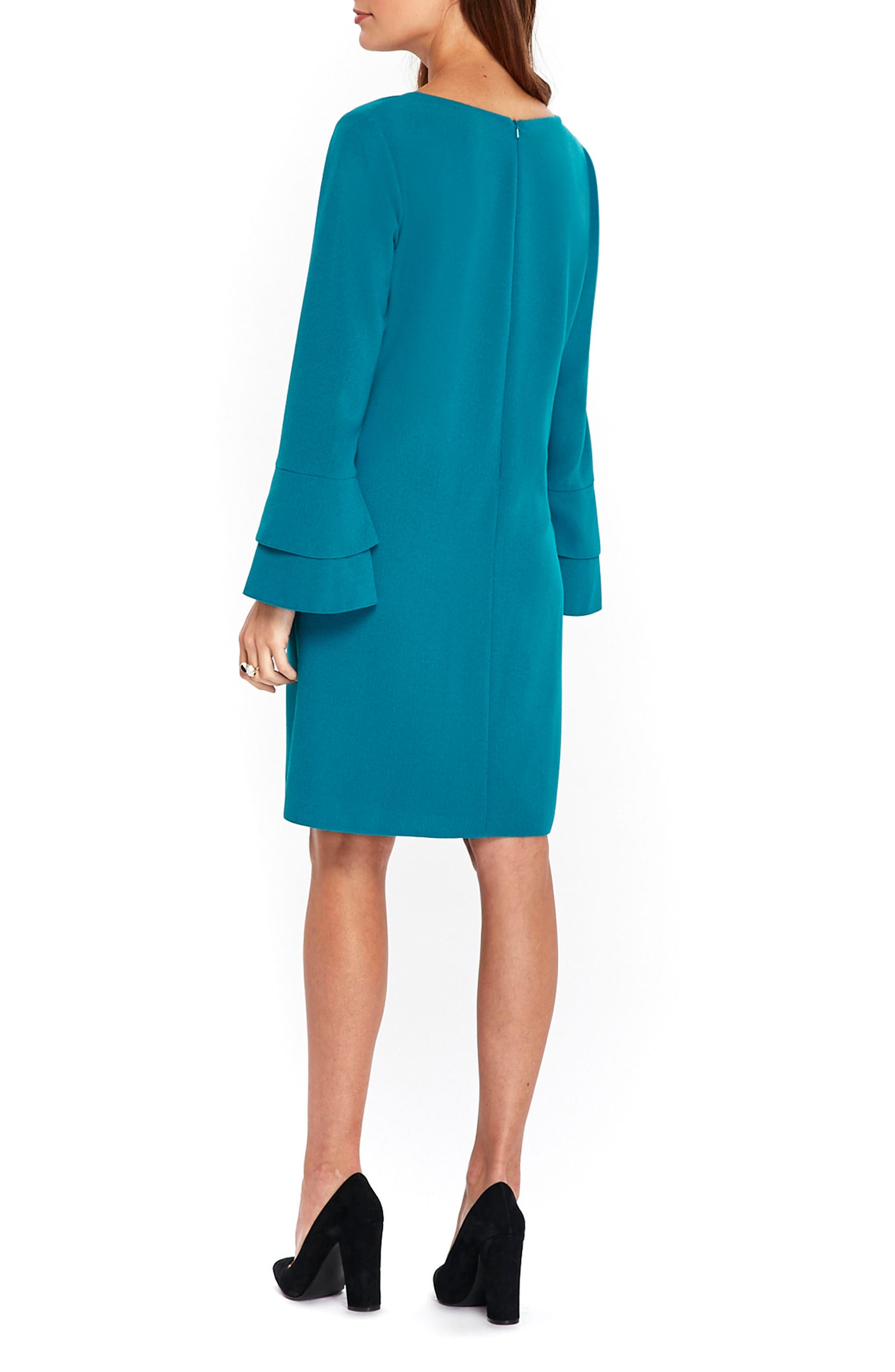 Bell Sleeve Shift Dress,                             Alternate thumbnail 2, color,                             440