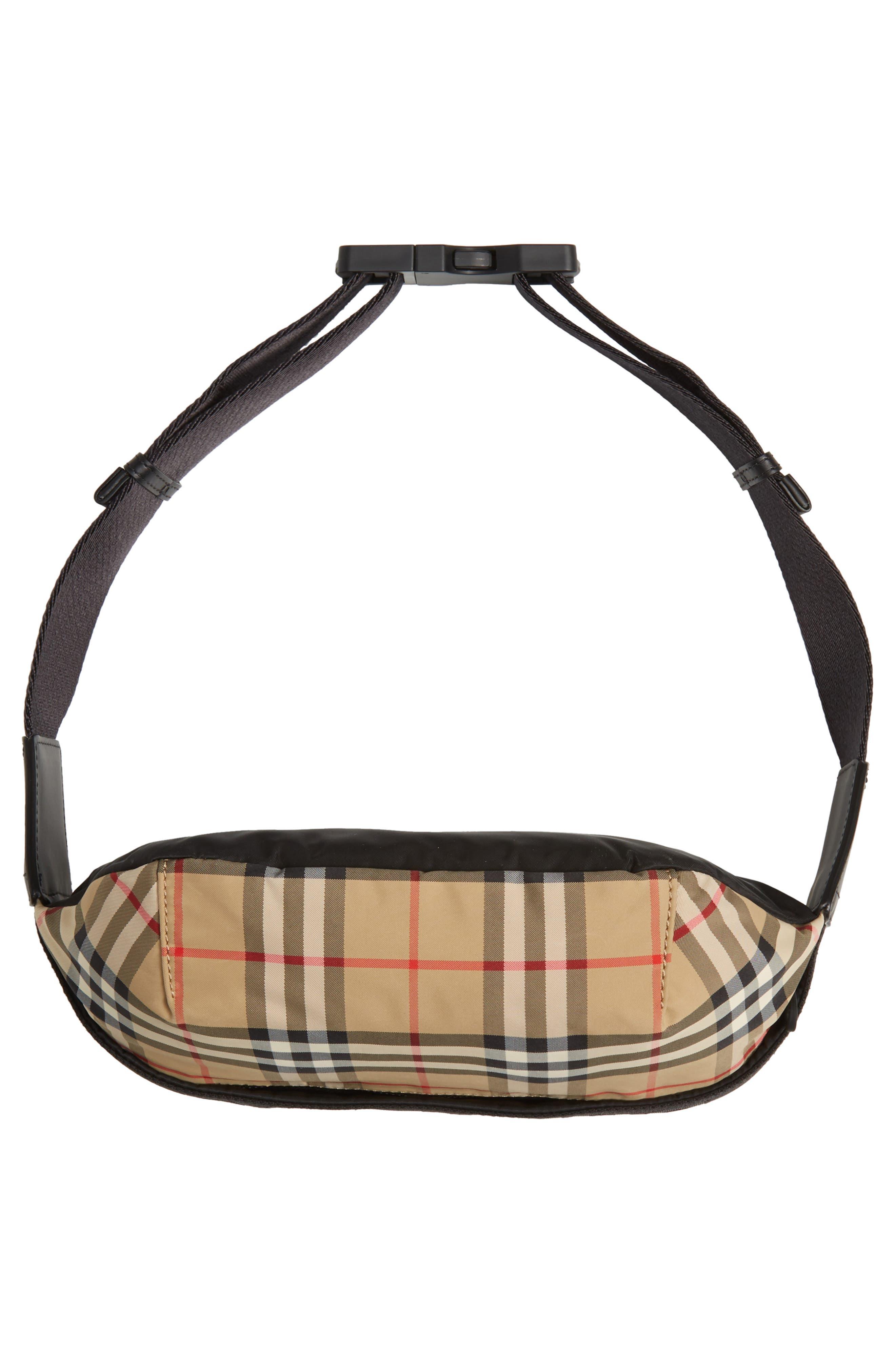 BURBERRY,                             Burberrry Medium Sonny Vintage Check Belt Bag,                             Alternate thumbnail 7, color,                             ARCHIVE BEIGE