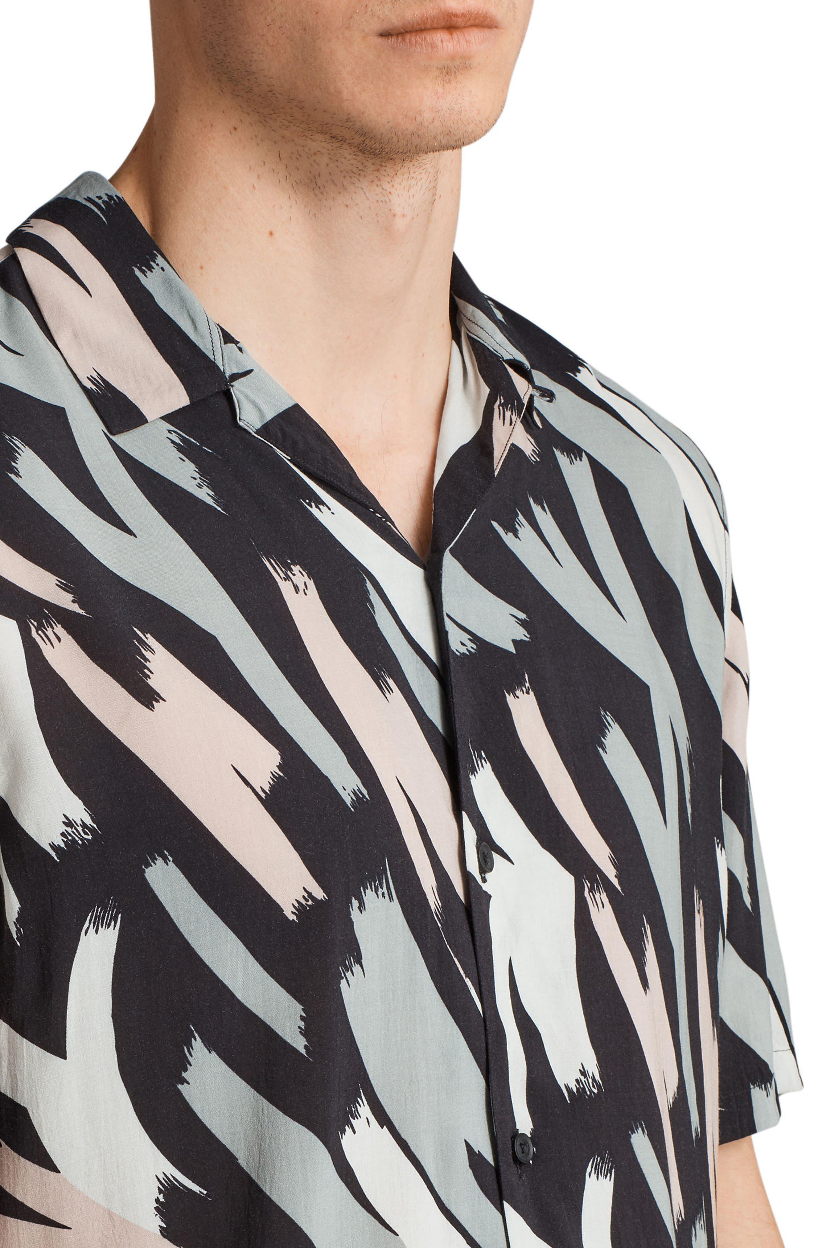 Koloa Slim Fit Short Sleeve Sport Shirt,                             Alternate thumbnail 4, color,                             008