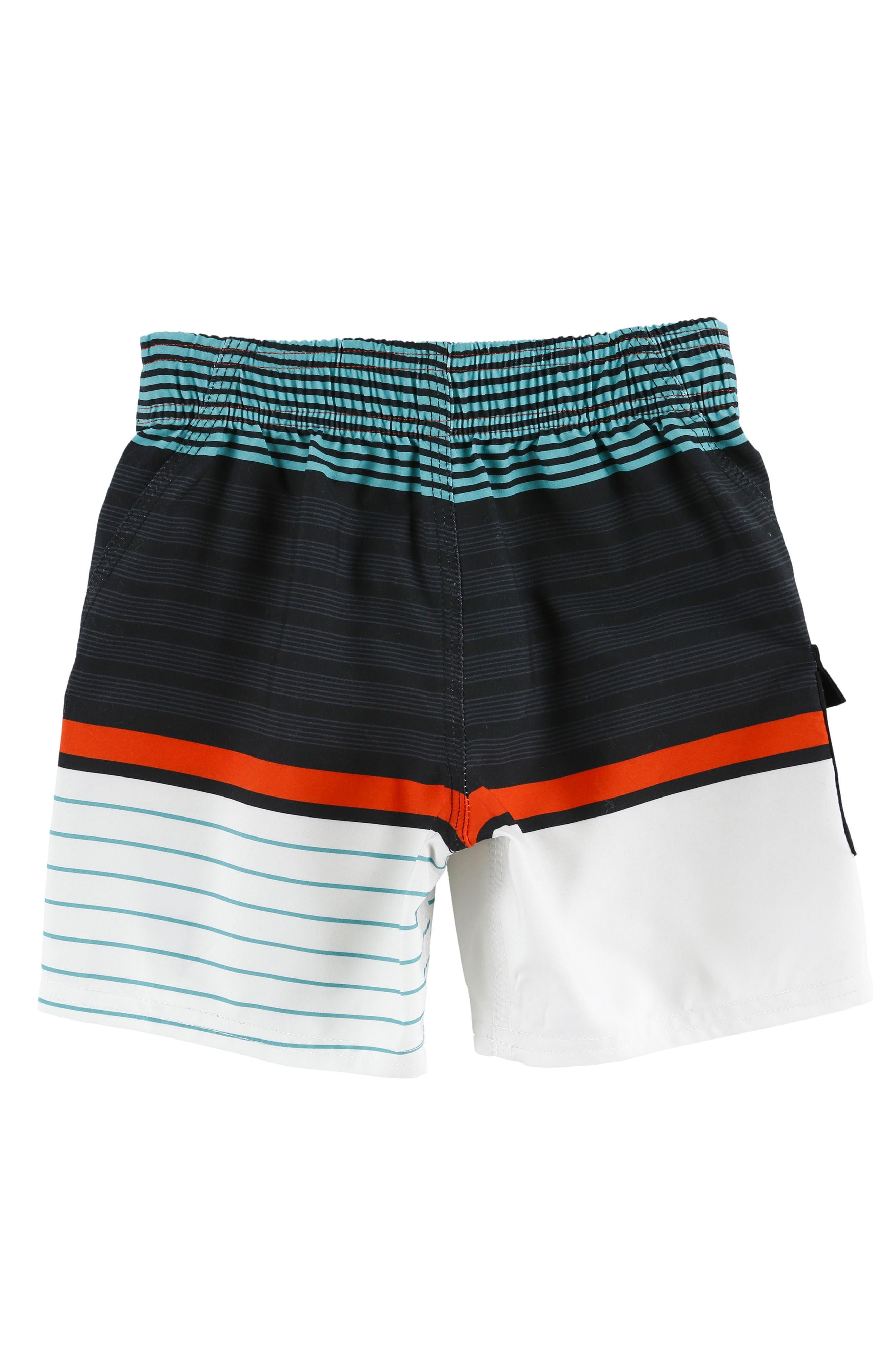 Lennox Stripe Board Shorts,                             Alternate thumbnail 8, color,