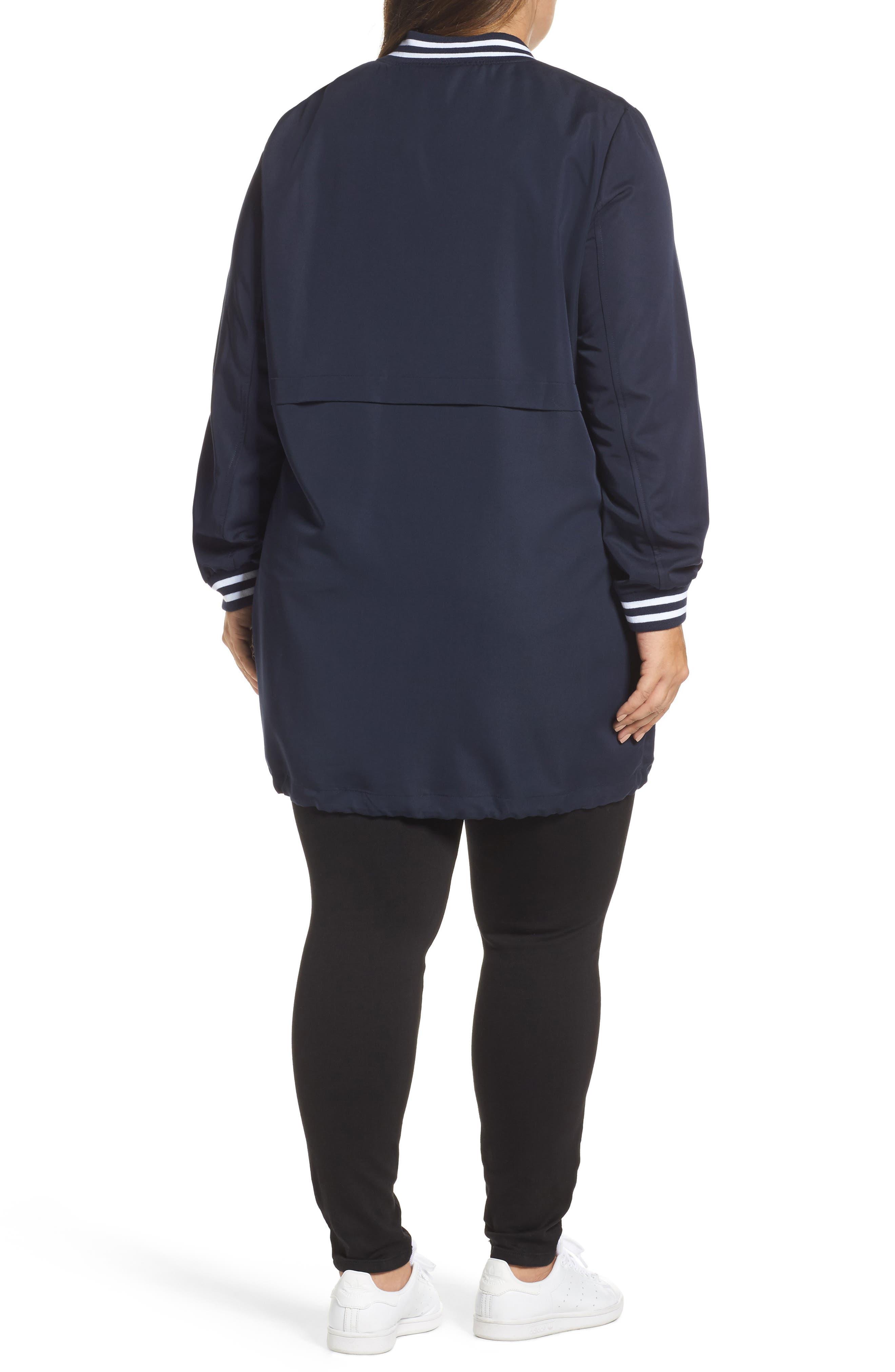 Juliane Tunic Length Bomber Jacket,                             Alternate thumbnail 2, color,