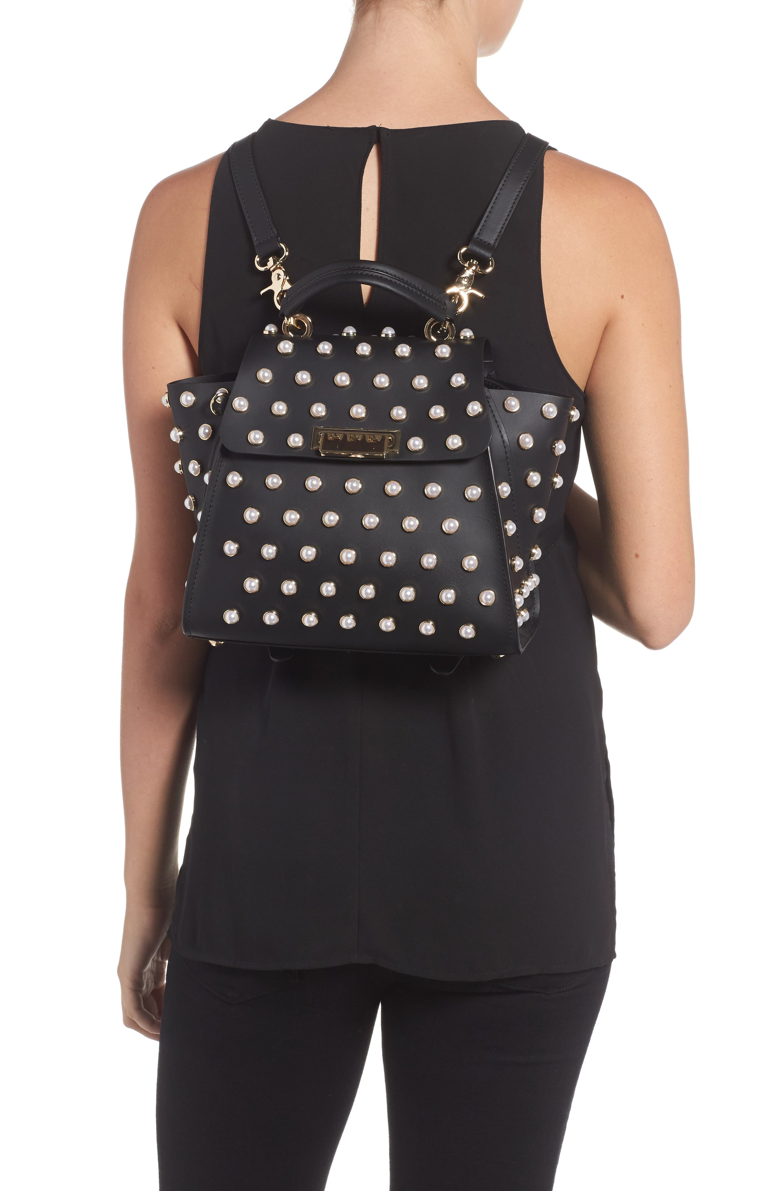Eartha Iconic Embellished Convertible Leather Backpack,                             Alternate thumbnail 2, color,