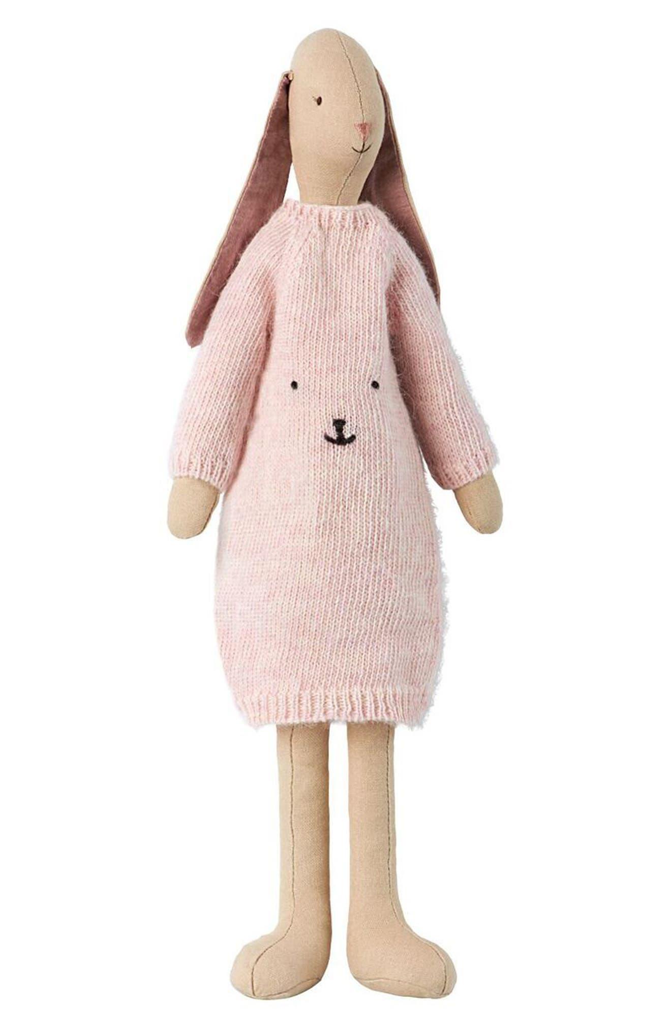 Sweater Bunny Stuffed Animal,                             Main thumbnail 1, color,                             MULTI