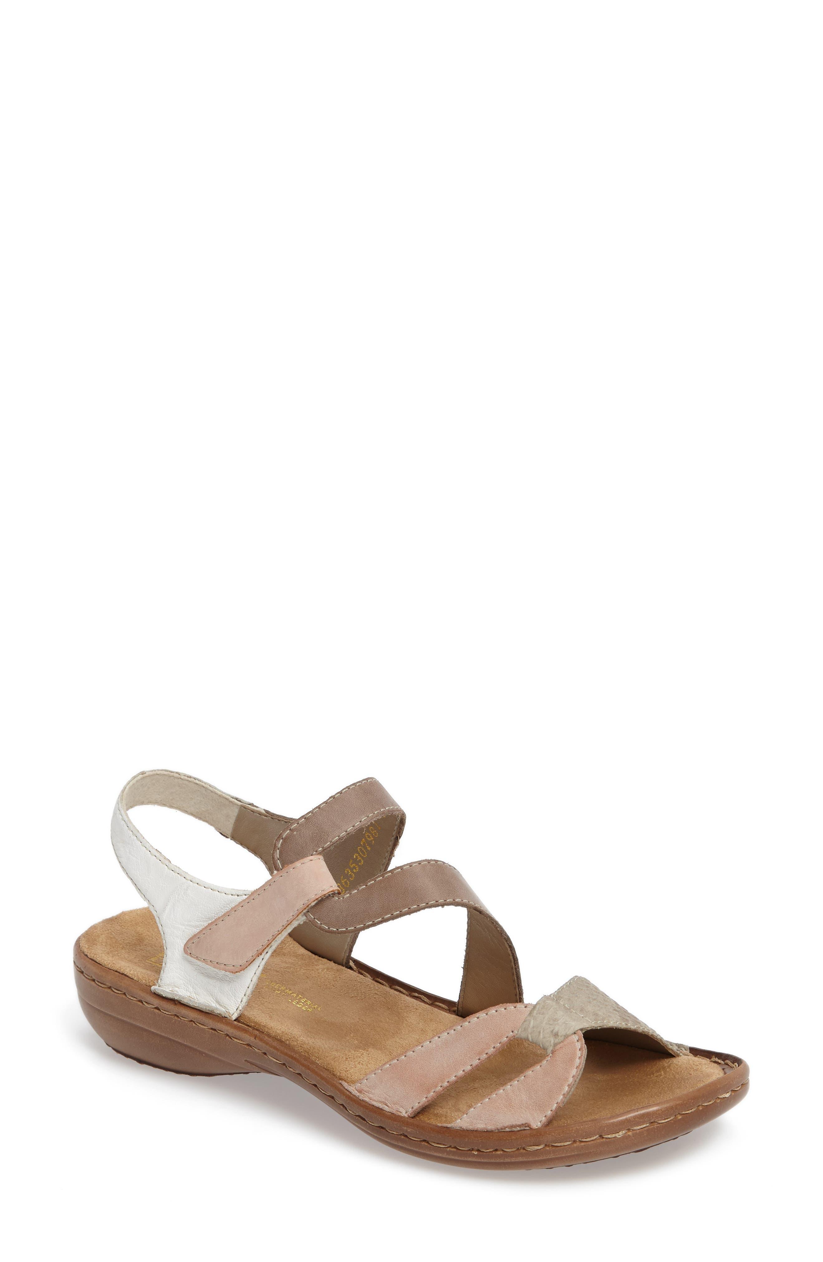 Regina 66 Wedge Sandal,                         Main,                         color, ROSE LEATHER