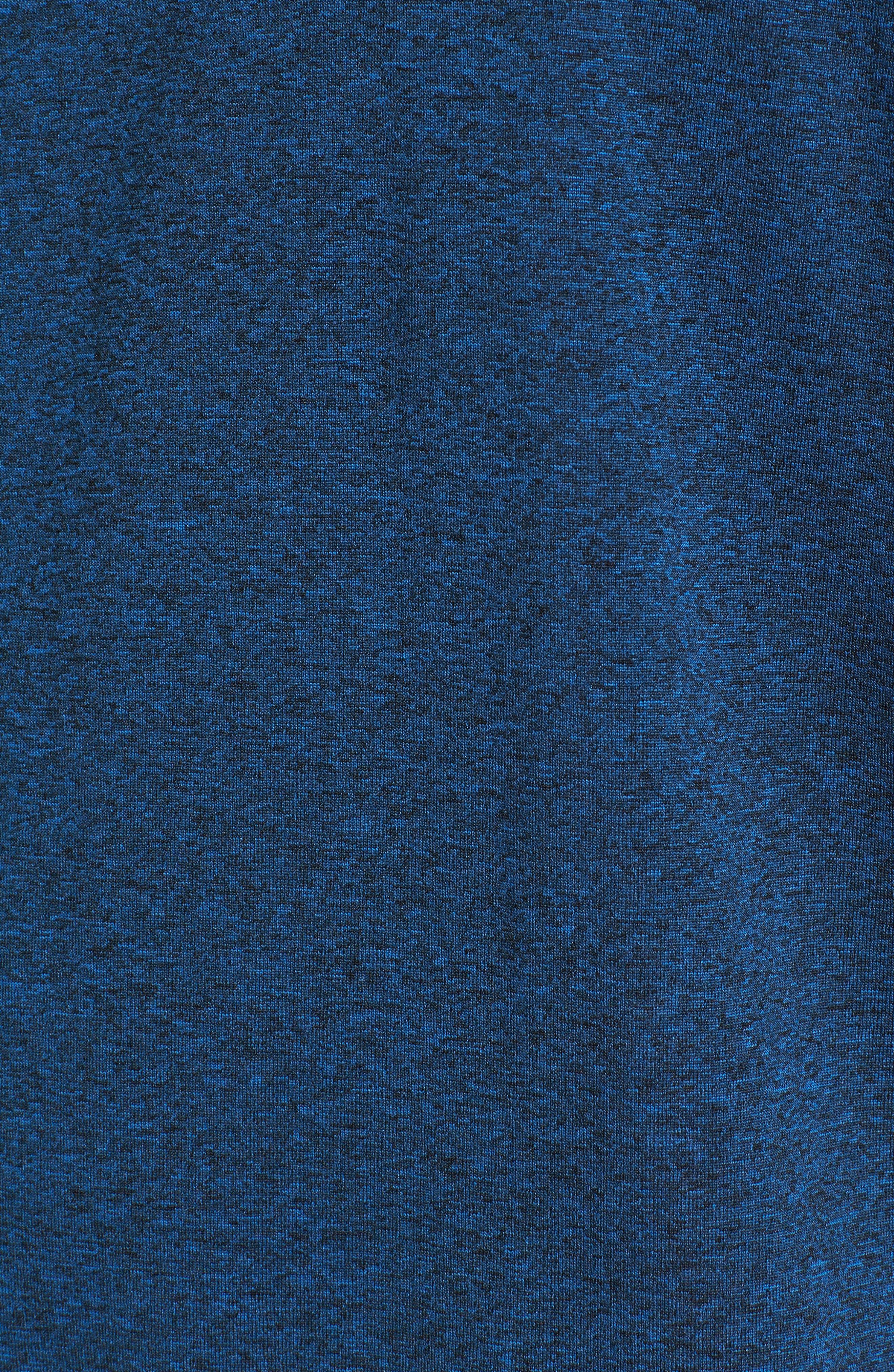 Goodsport Mesh Panel T-Shirt,                             Alternate thumbnail 5, color,                             LAPIS BLUE/ BLACK HEATHER