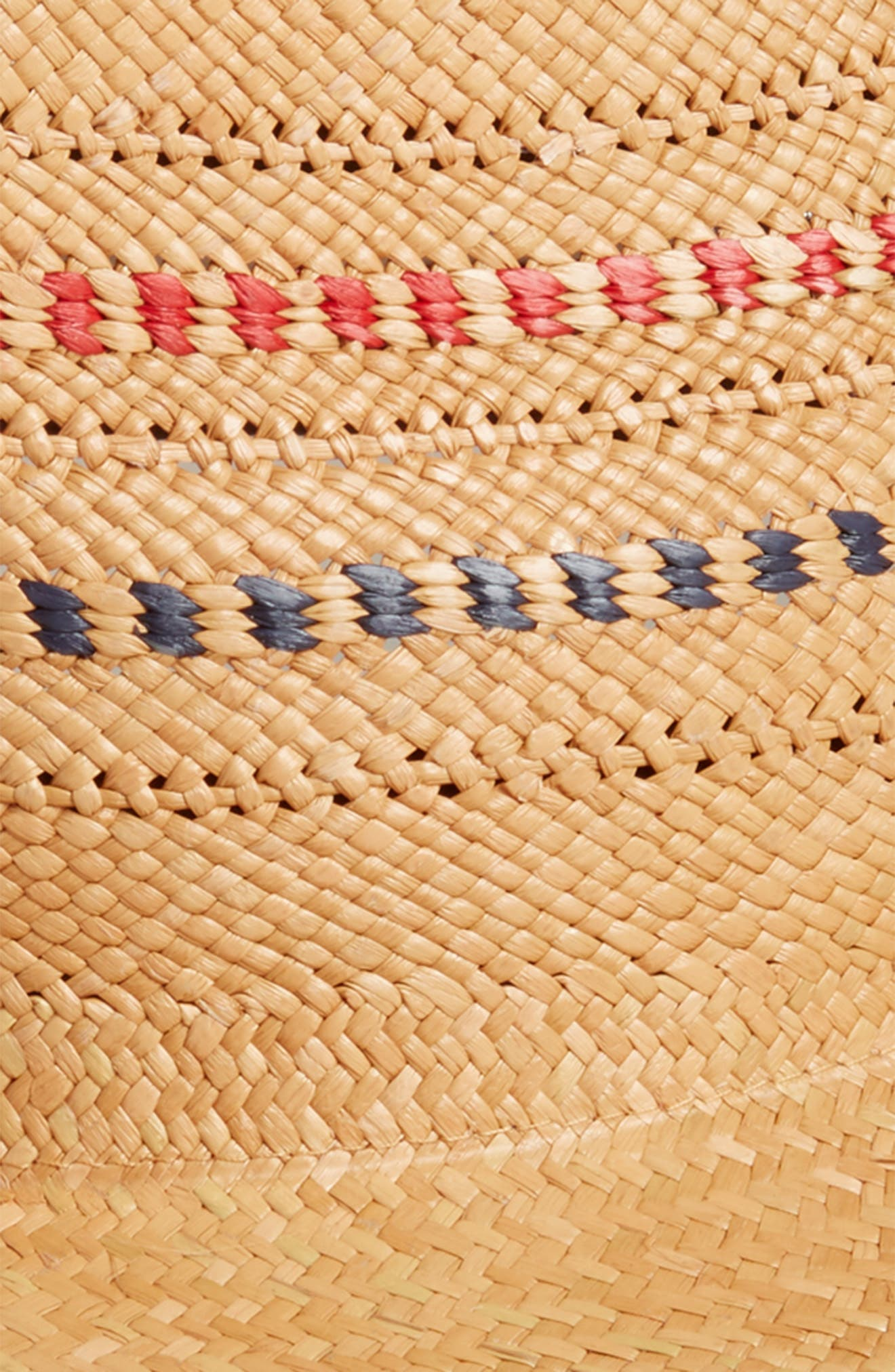 Panama Straw Hat,                             Alternate thumbnail 2, color,                             RED/ BLUE MULTI