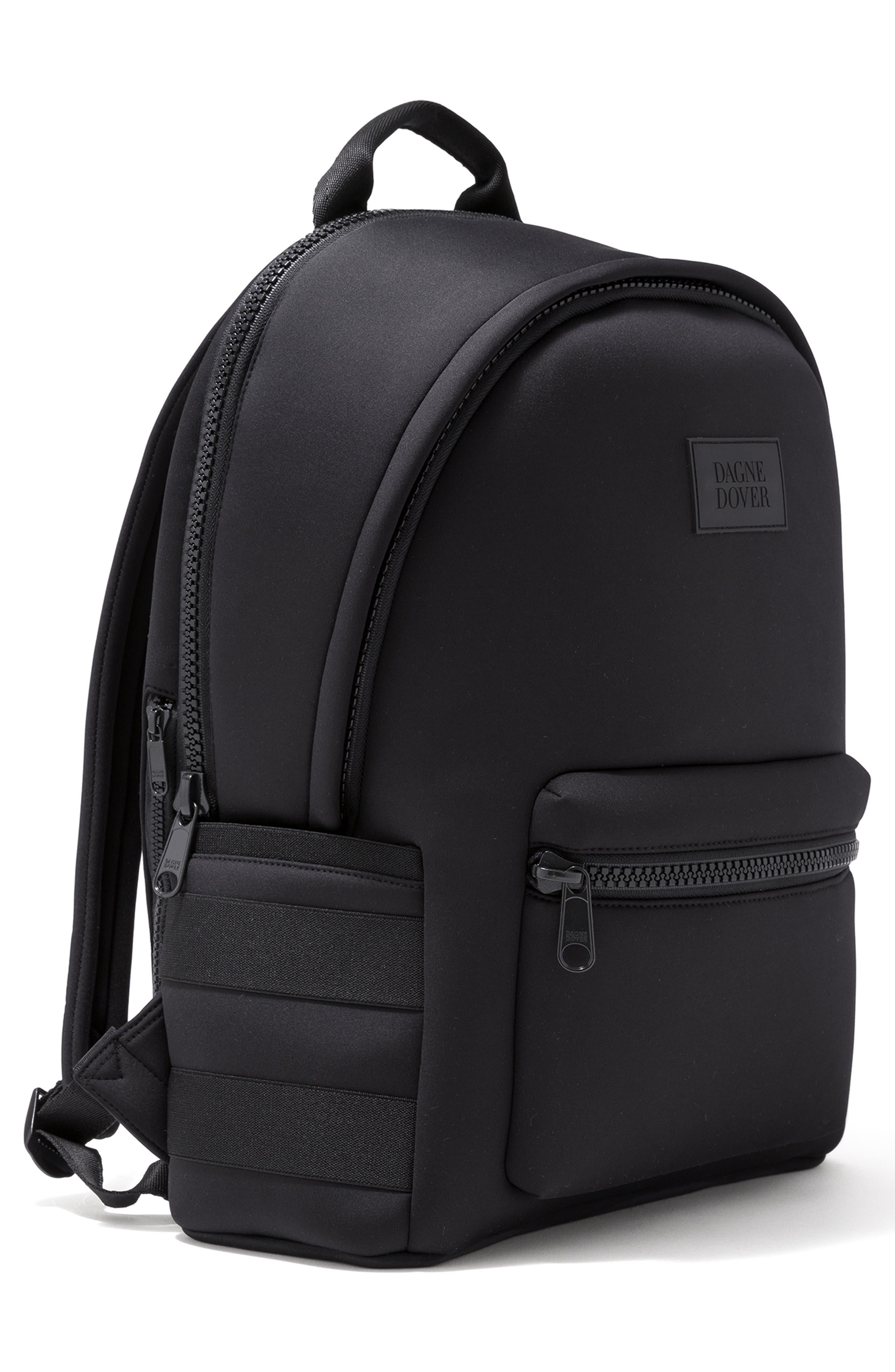DAGNE DOVER,                             Large Dakota Neoprene Backpack,                             Alternate thumbnail 5, color,                             ONYX