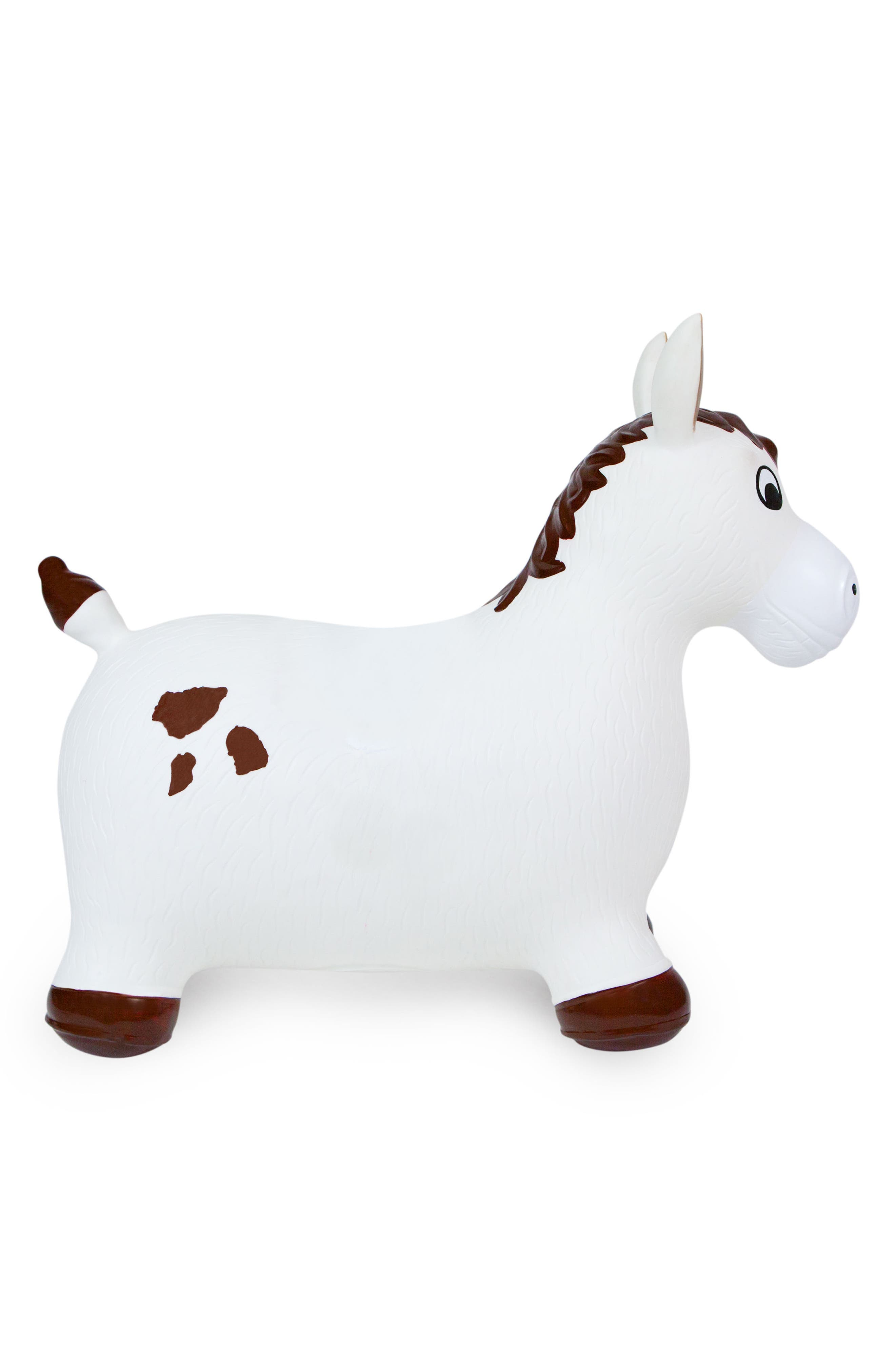 Lucky Bouncy Ride-On Horse Toy,                             Alternate thumbnail 2, color,                             WHITE/ BROWN