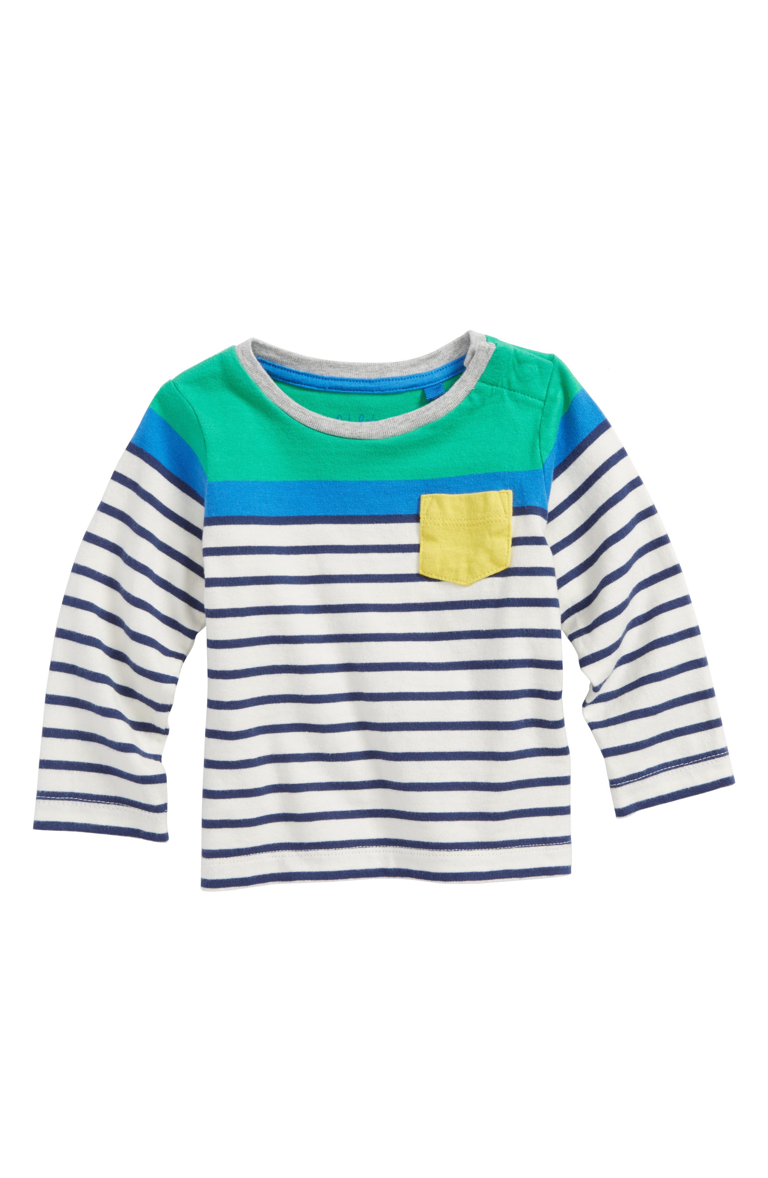 MINI BODEN Fun Breton T-Shirt, Main, color, 315