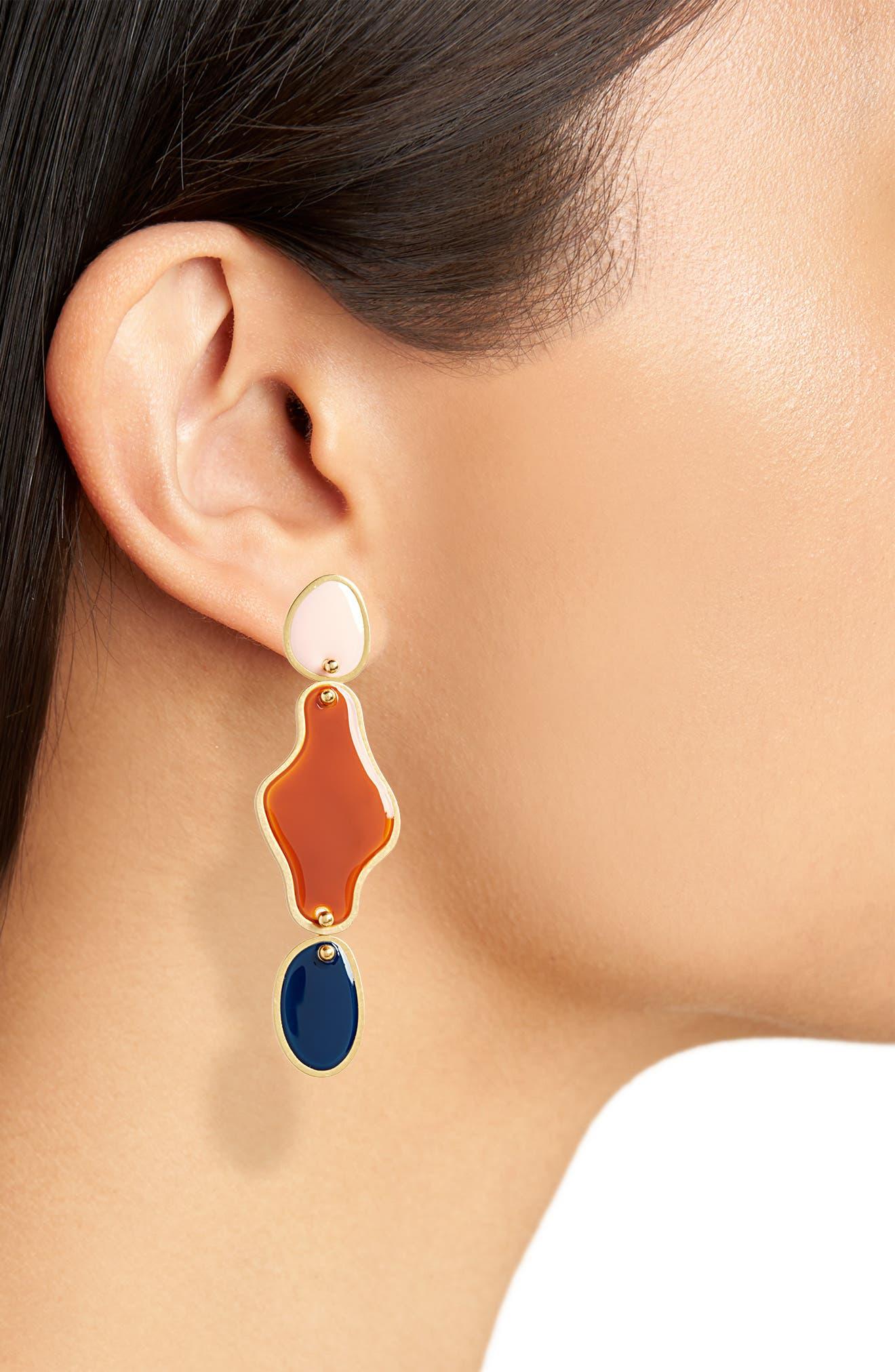Freeform Statement Earrings,                             Alternate thumbnail 2, color,                             400