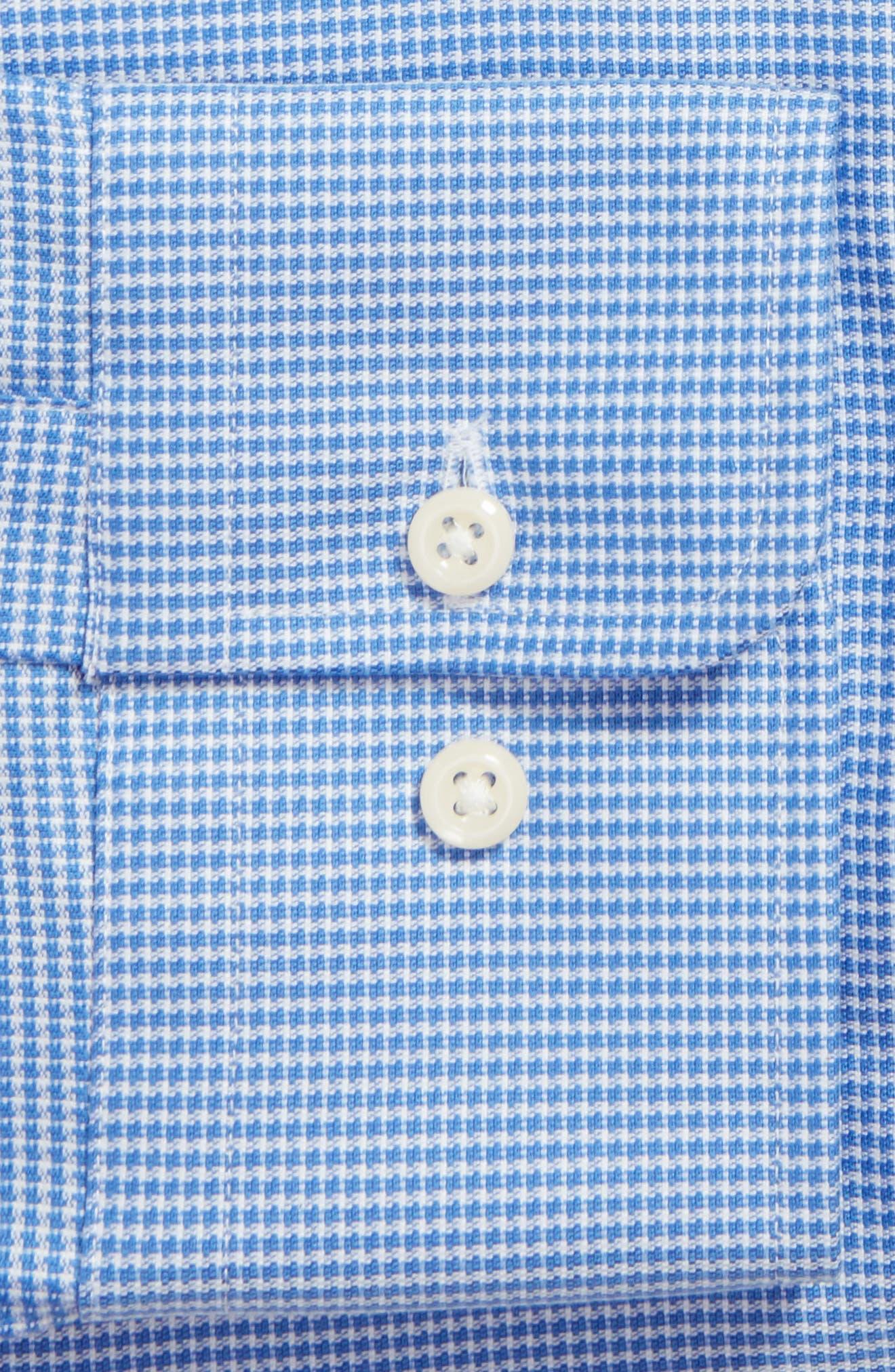 Regular Fit Houndstooth Dress Shirt,                             Alternate thumbnail 4, color,                             423