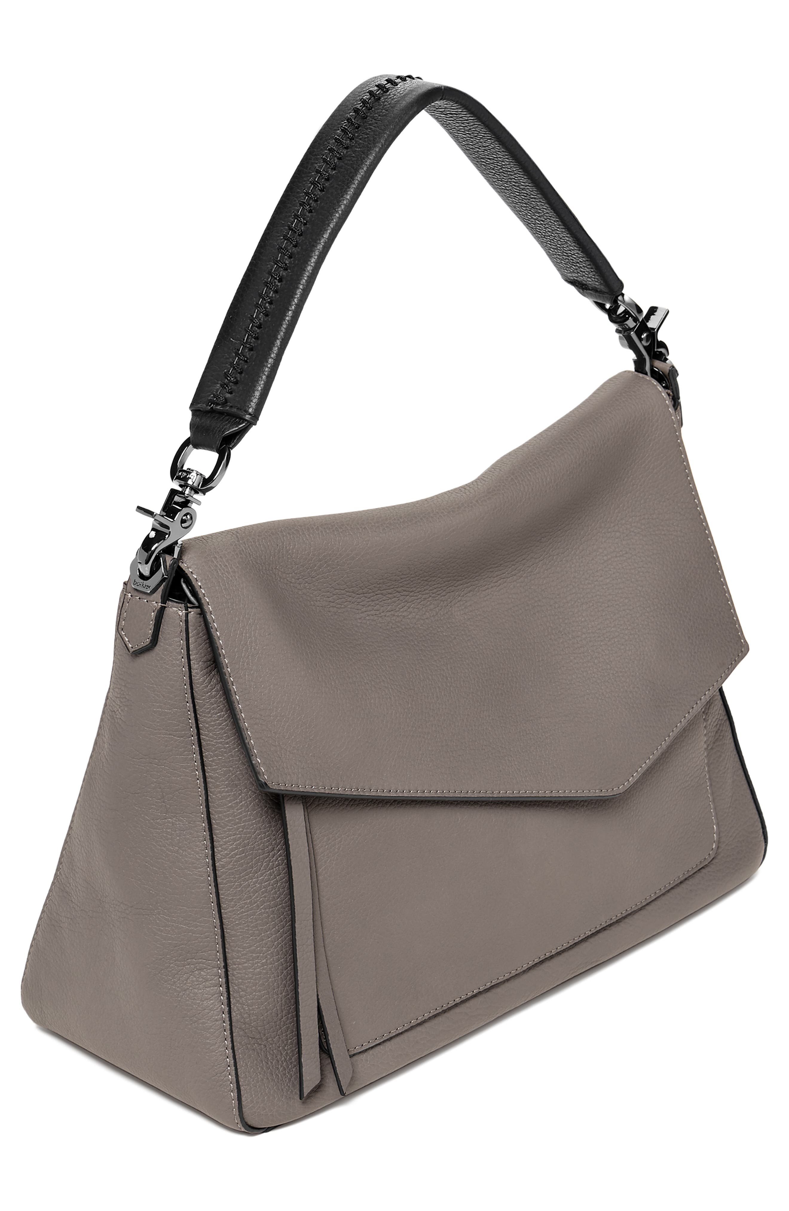 Cobble Hill Slouch Calfskin Leather Hobo,                             Alternate thumbnail 4, color,                             WINTER GREY