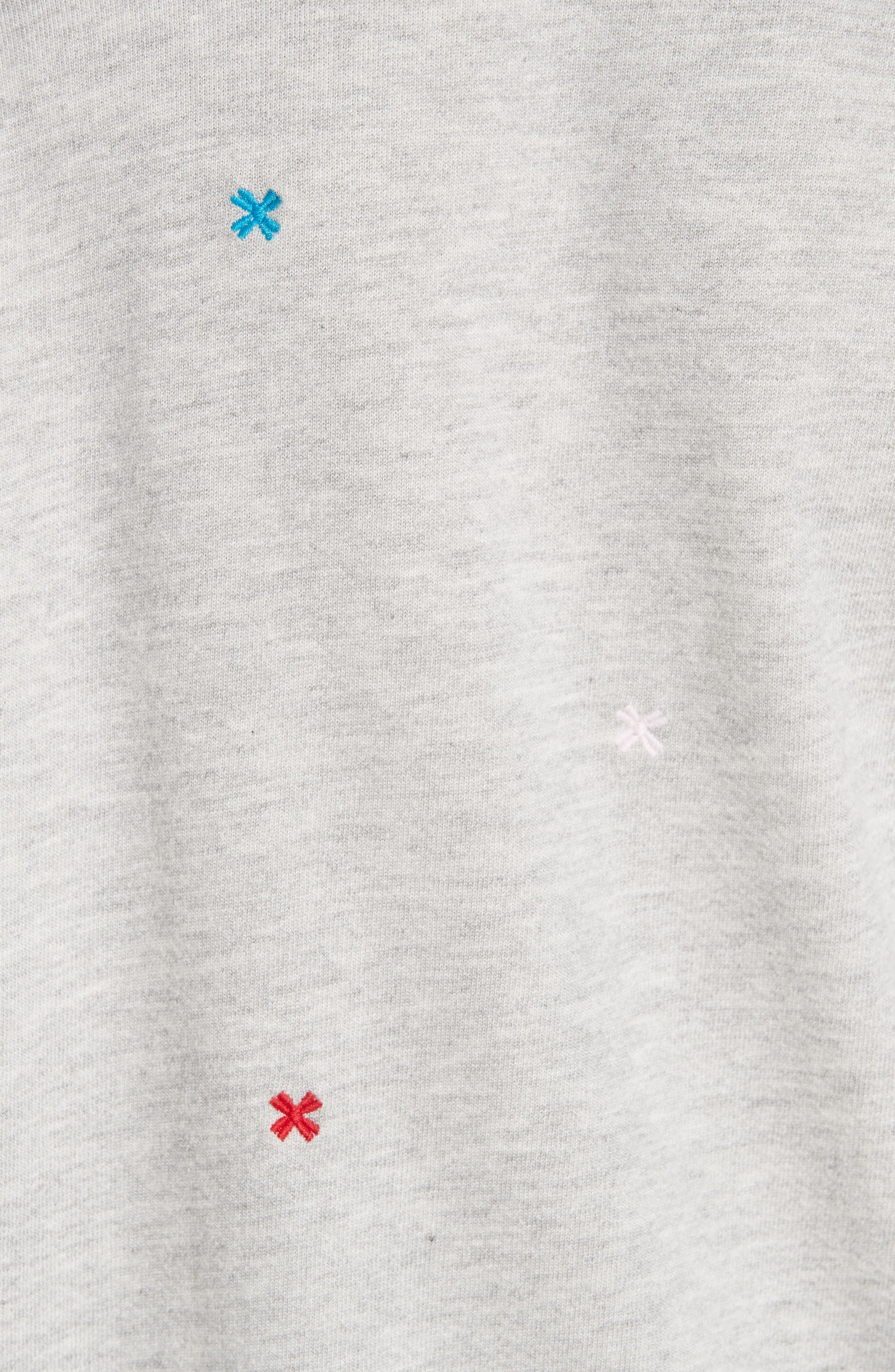 The College Embroidered Sweatshirt,                             Alternate thumbnail 5, color,                             HEATHER GREY/ MULTI