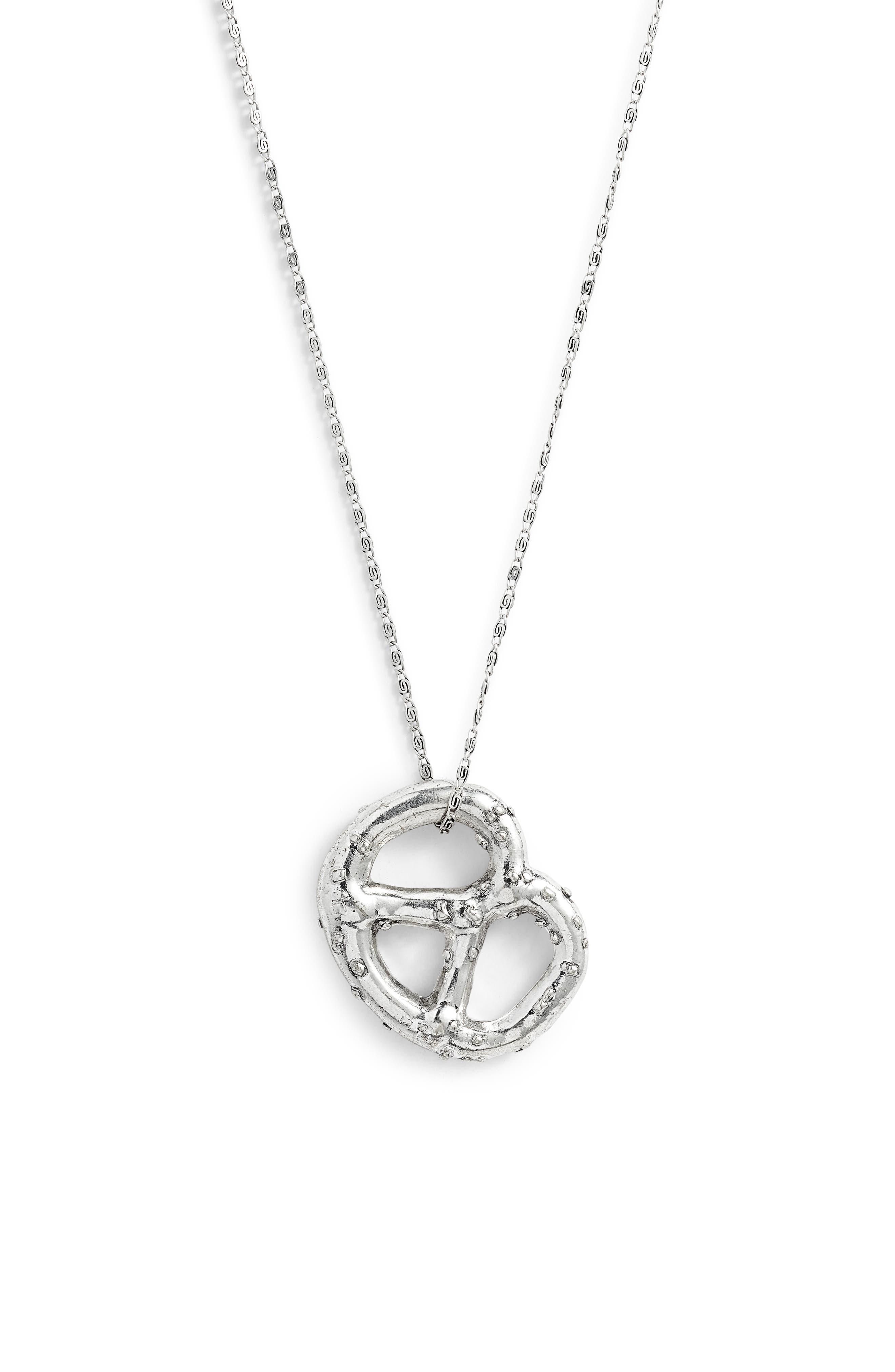 Pretzel Pendant Necklace,                             Alternate thumbnail 2, color,