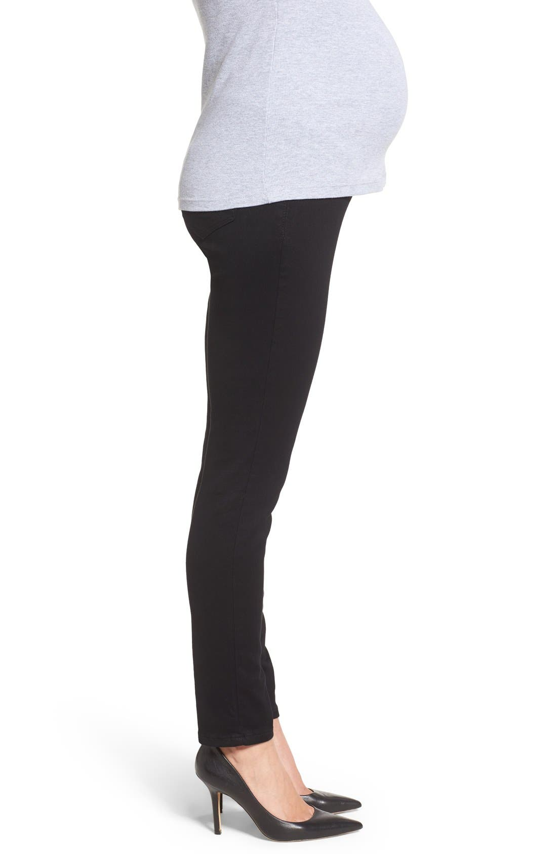 'Ankle Biter' Over the Bump Rolled Cuff Maternity Skinny Jeans,                             Alternate thumbnail 8, color,