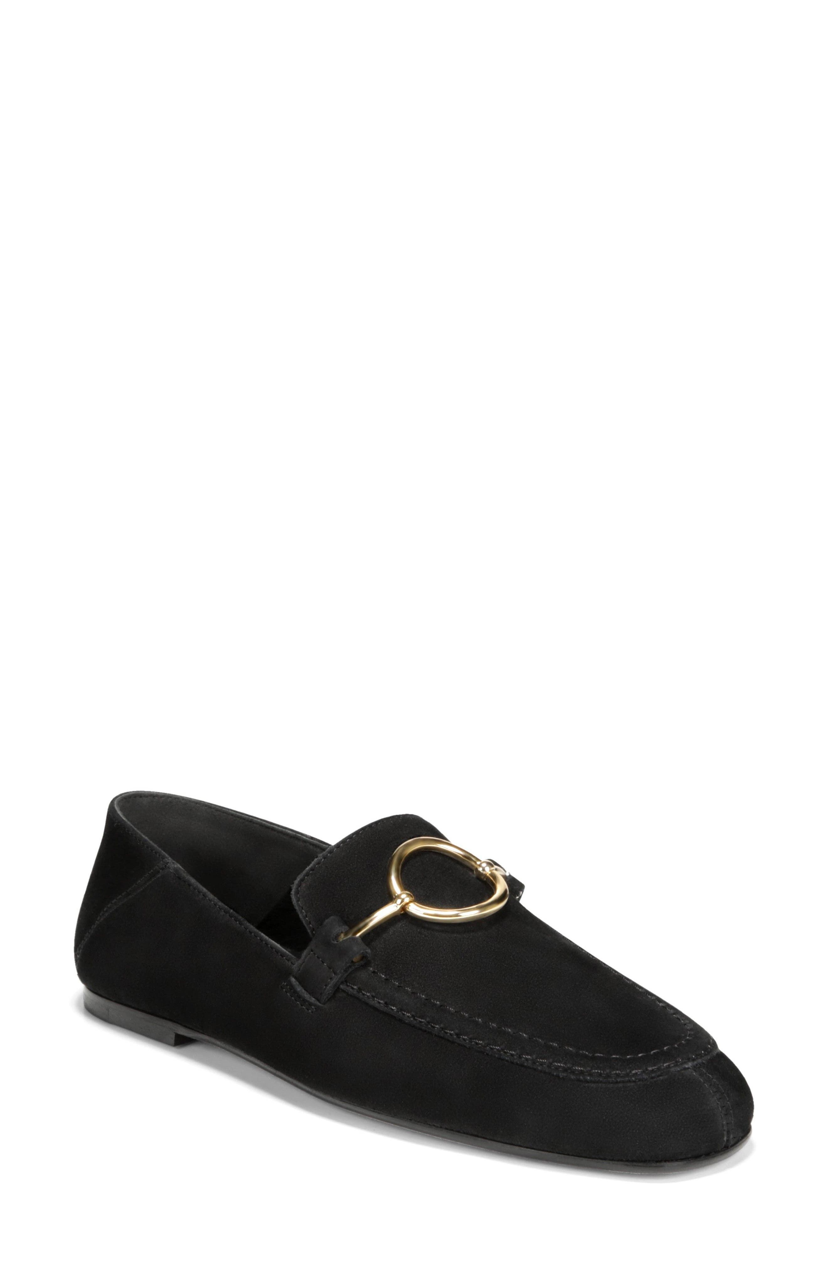 Abby Loafer,                             Main thumbnail 1, color,                             BLACK NUBUCK LEATHER
