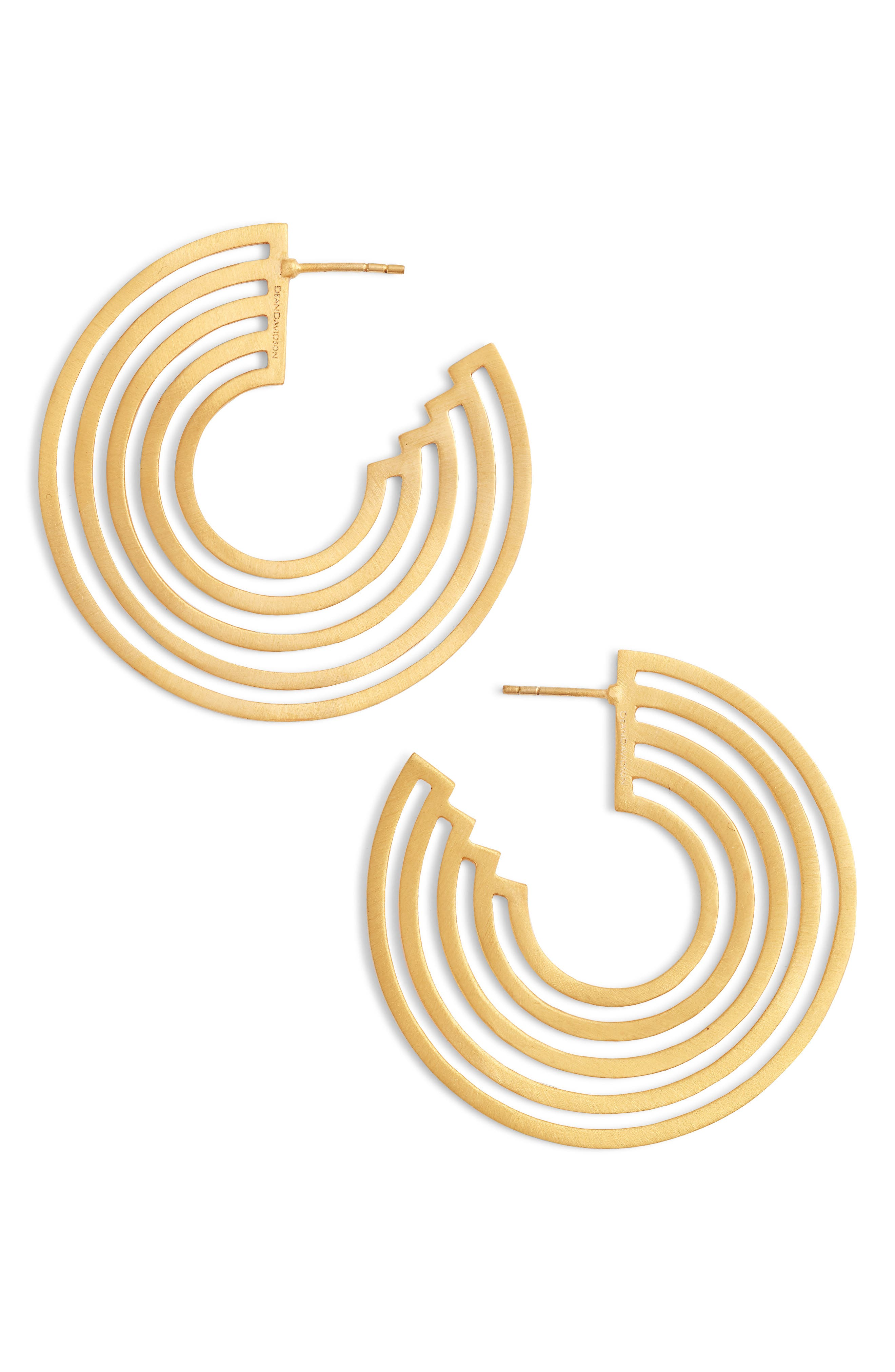 Solar Concentric Hoop Earrings,                             Main thumbnail 1, color,                             710