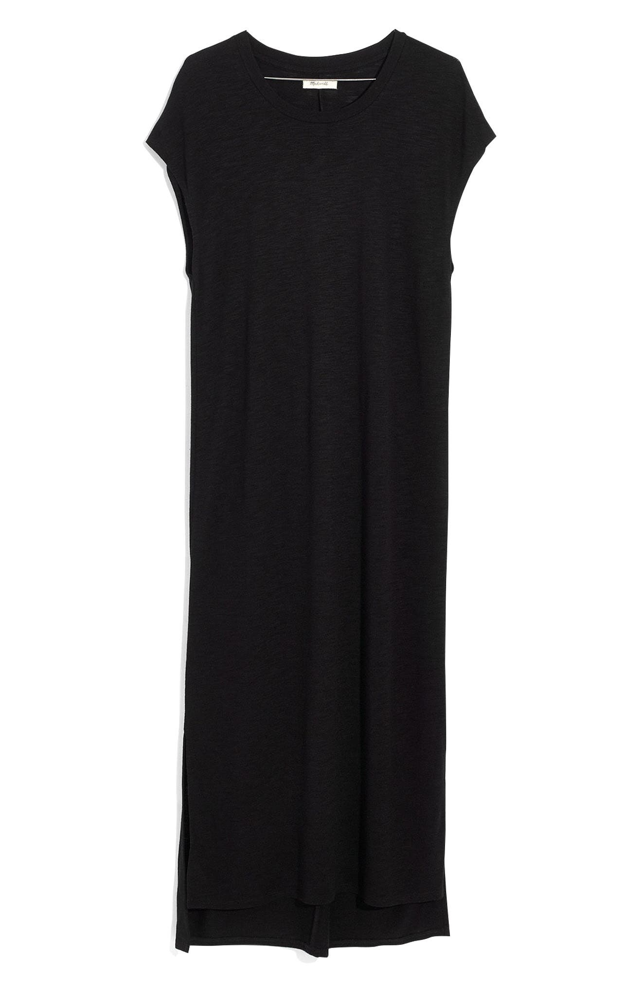 Muscle Midi Dress,                             Alternate thumbnail 3, color,                             001