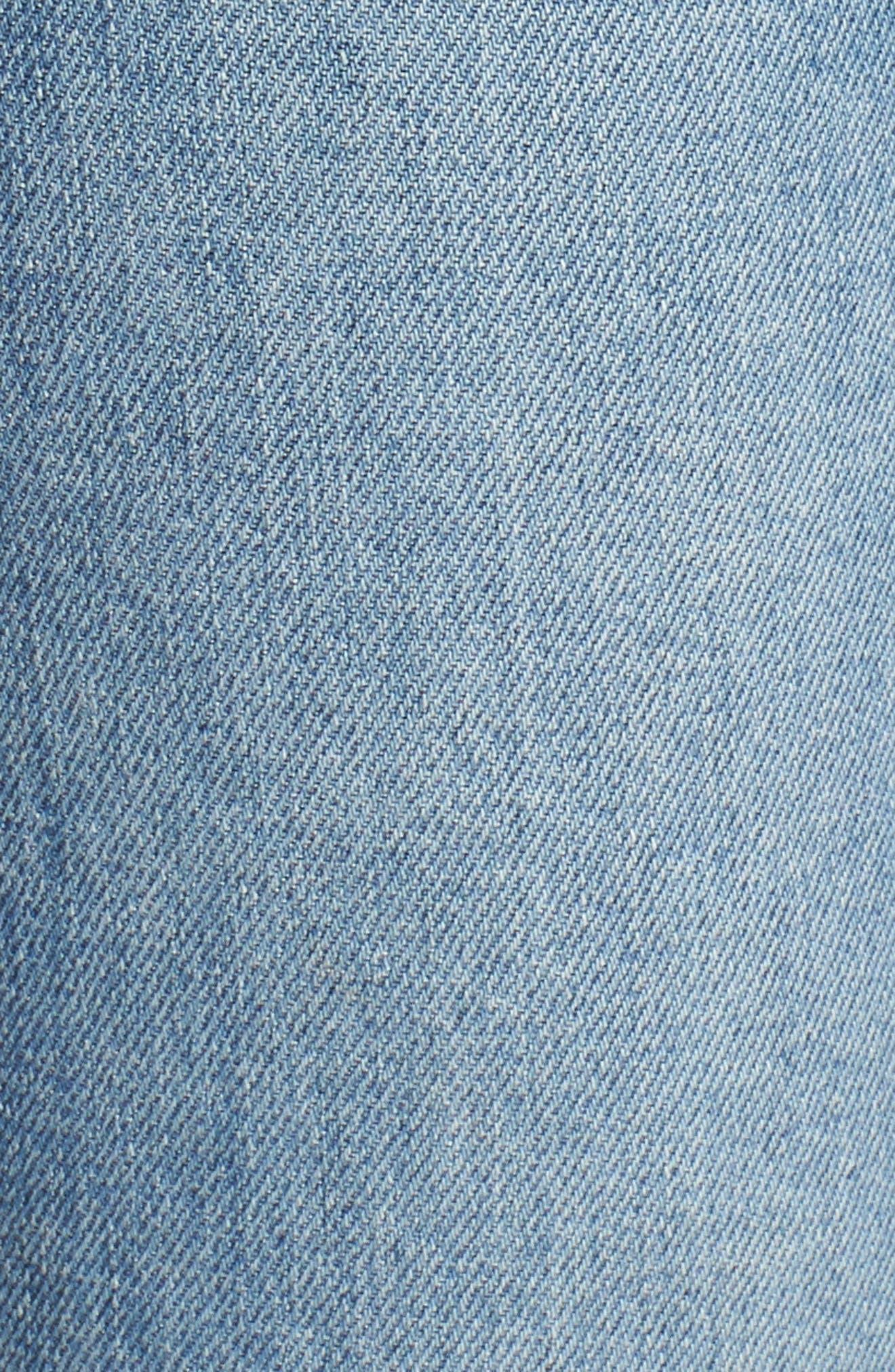 Edie High Waist Crop Straight Leg Jeans,                             Alternate thumbnail 21, color,