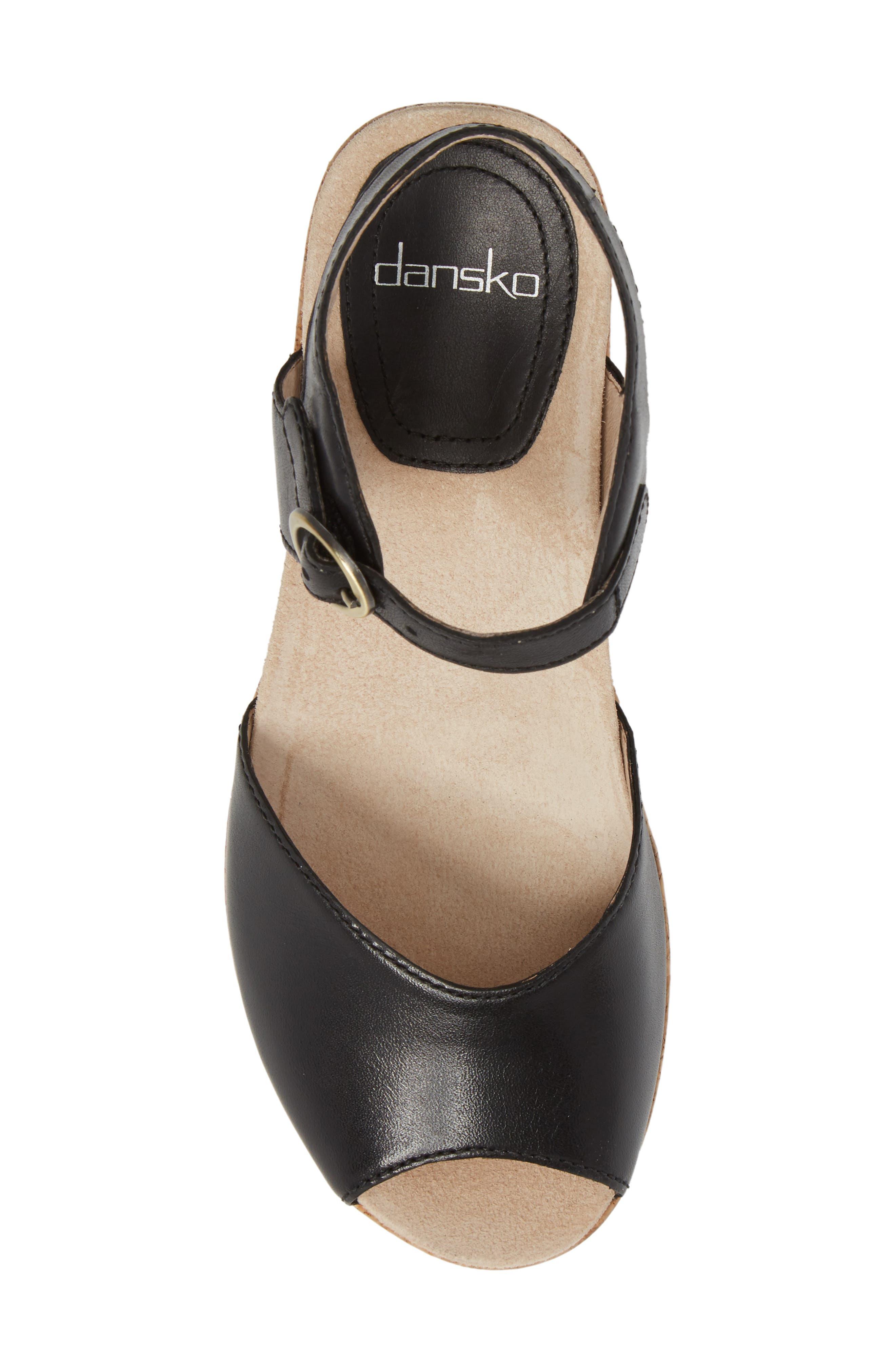 Wedge Sandal,                             Alternate thumbnail 5, color,                             001