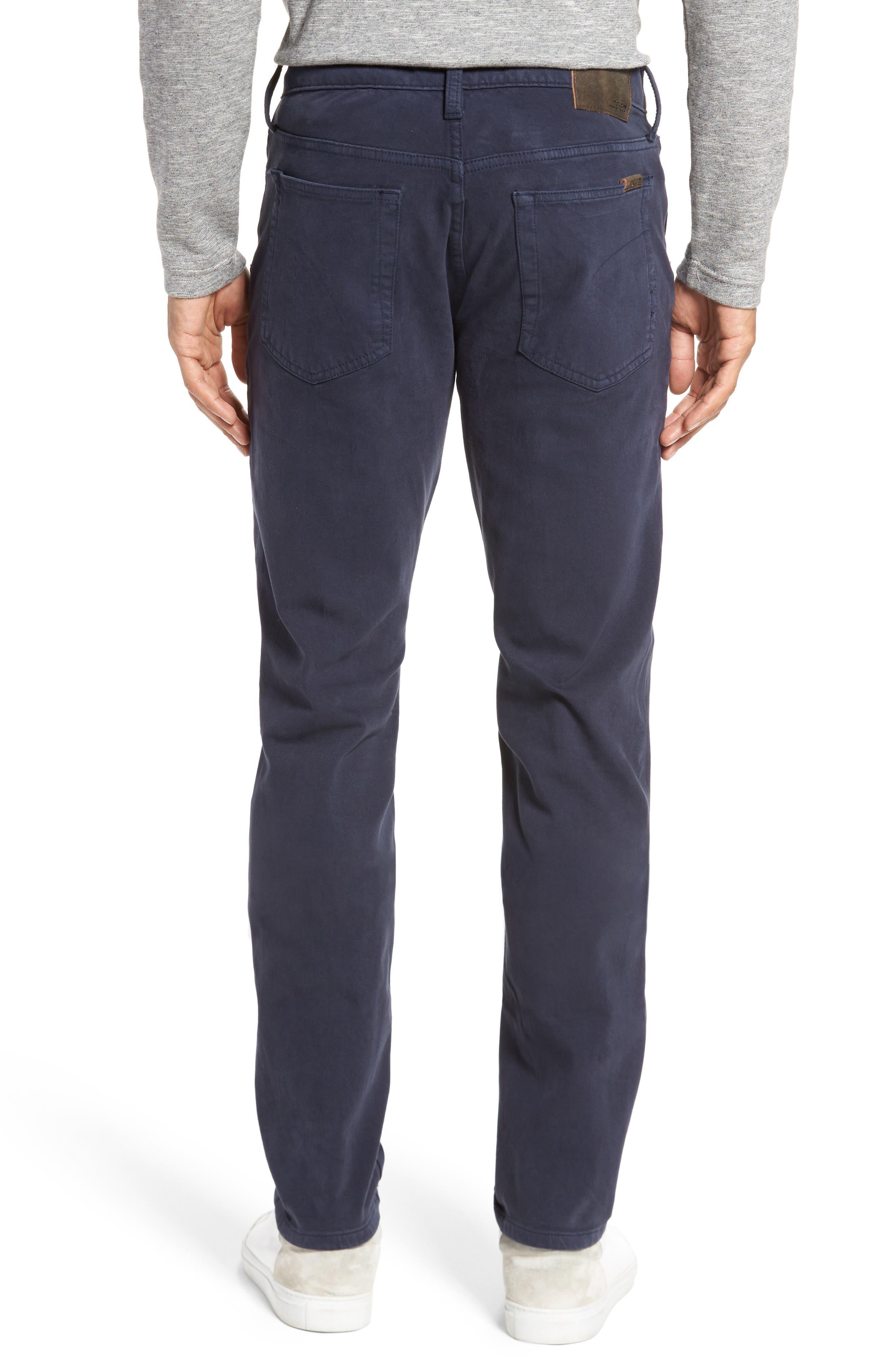 Kinetic Slim Fit Twill Pants,                             Alternate thumbnail 2, color,                             NAVY
