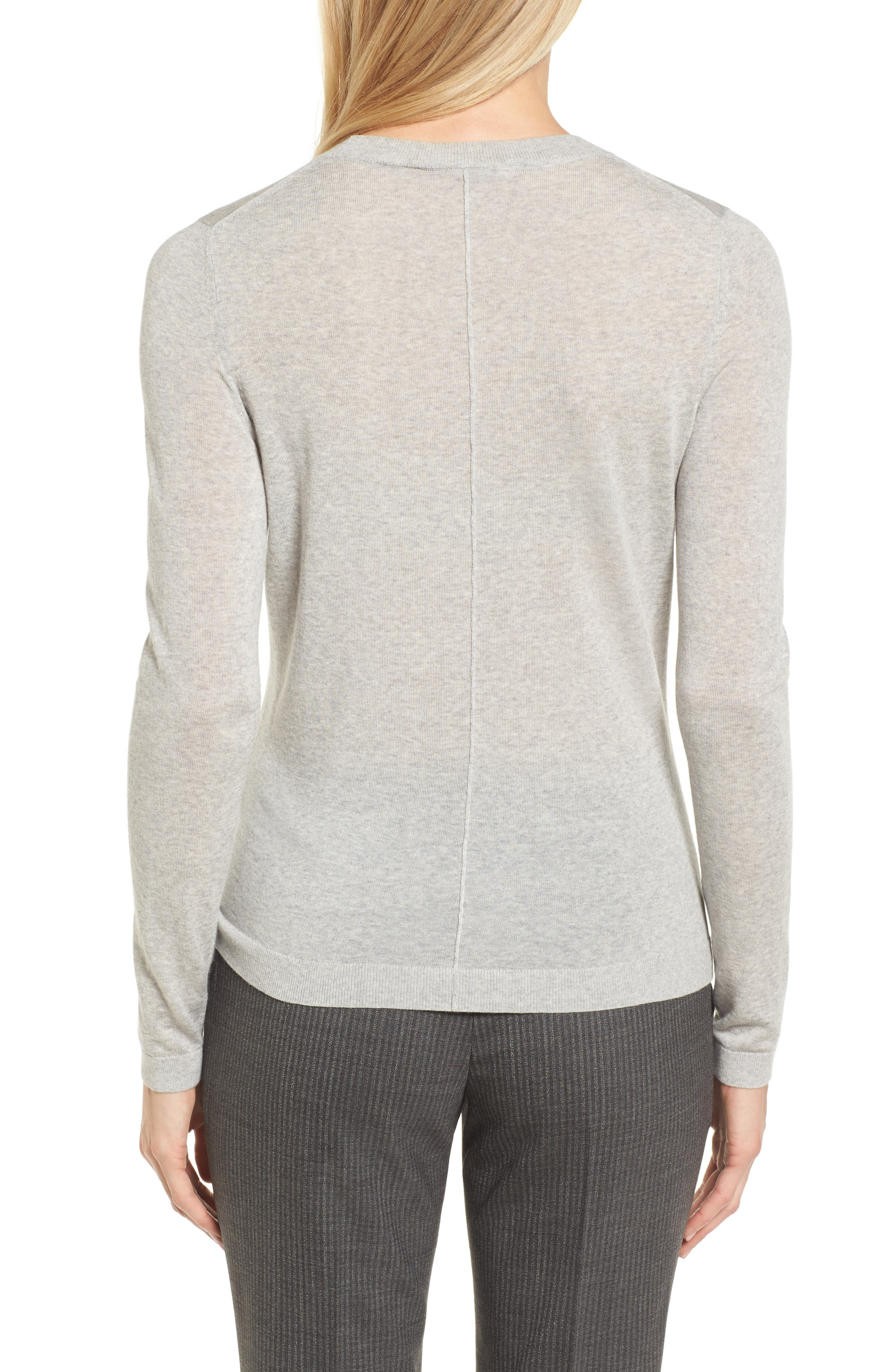 Fayme Wool Crewneck Sweater,                             Alternate thumbnail 2, color,                             057