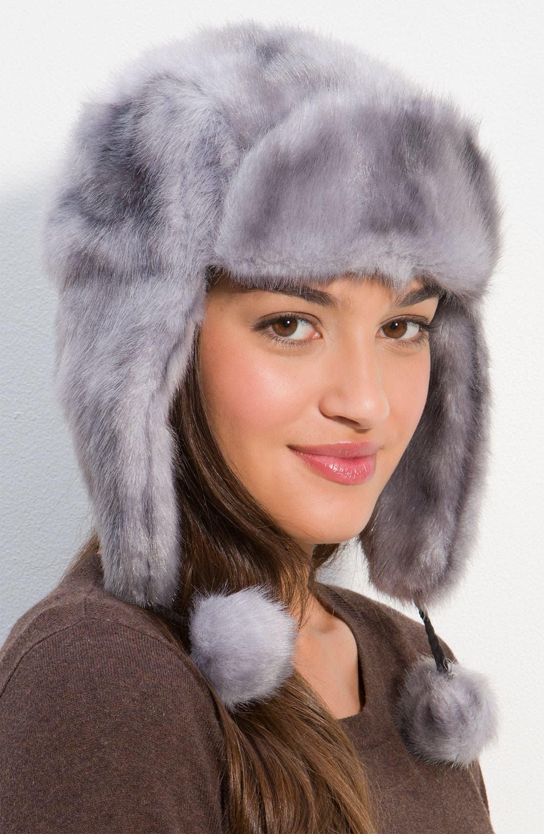 Faux Fur Trapper Hat,                             Main thumbnail 1, color,                             020