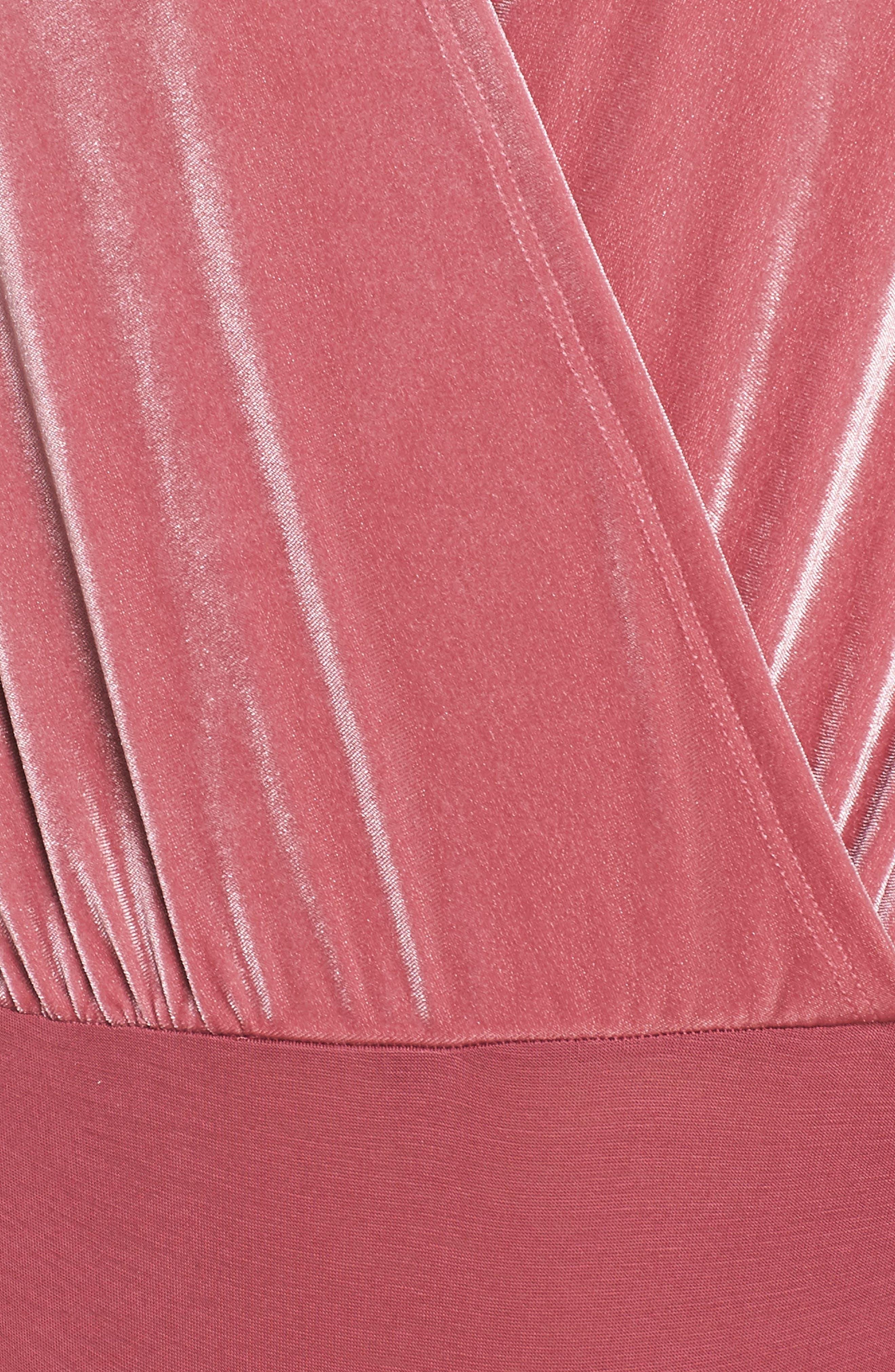 Be Your Love Velour Bodysuit,                             Alternate thumbnail 5, color,                             938