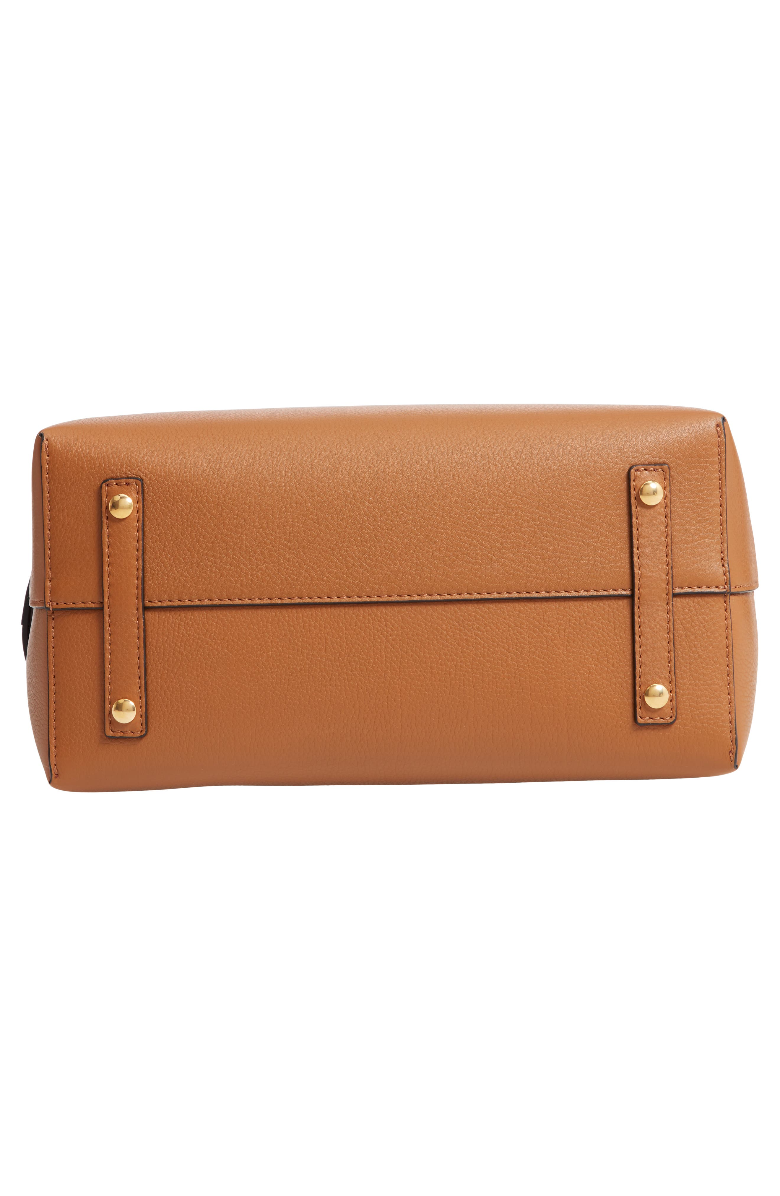 Medium Belt Bag Leather Tote,                             Alternate thumbnail 6, color,                             COGNAC