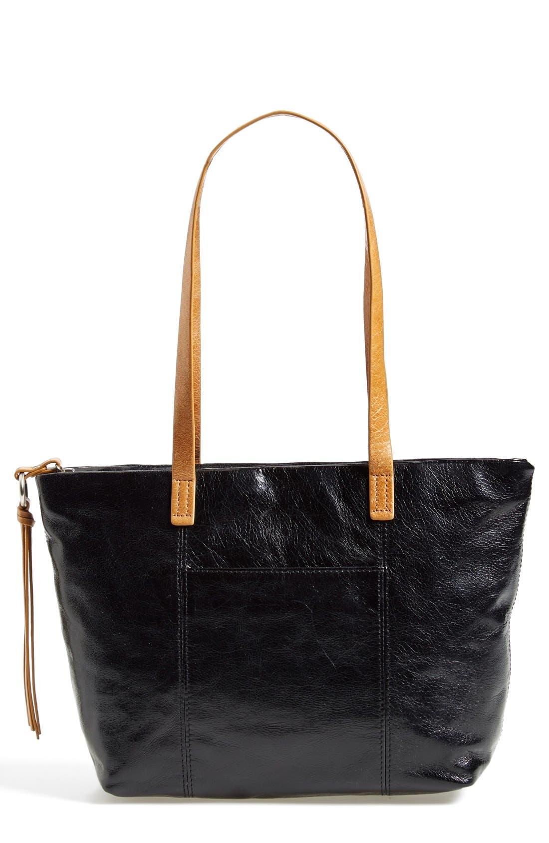 'Cecily' Mini Leather Tote, Main, color, 001