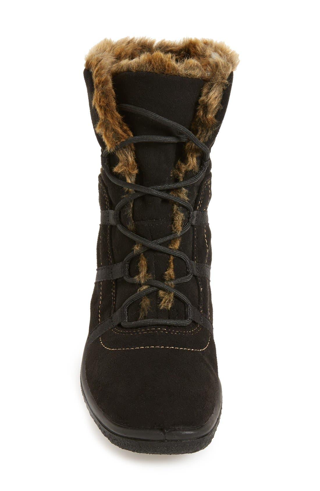 'Magaly' Waterproof Gore-Tex<sup>®</sup> Faux Fur Boot,                             Alternate thumbnail 2, color,                             BLACK FABRIC