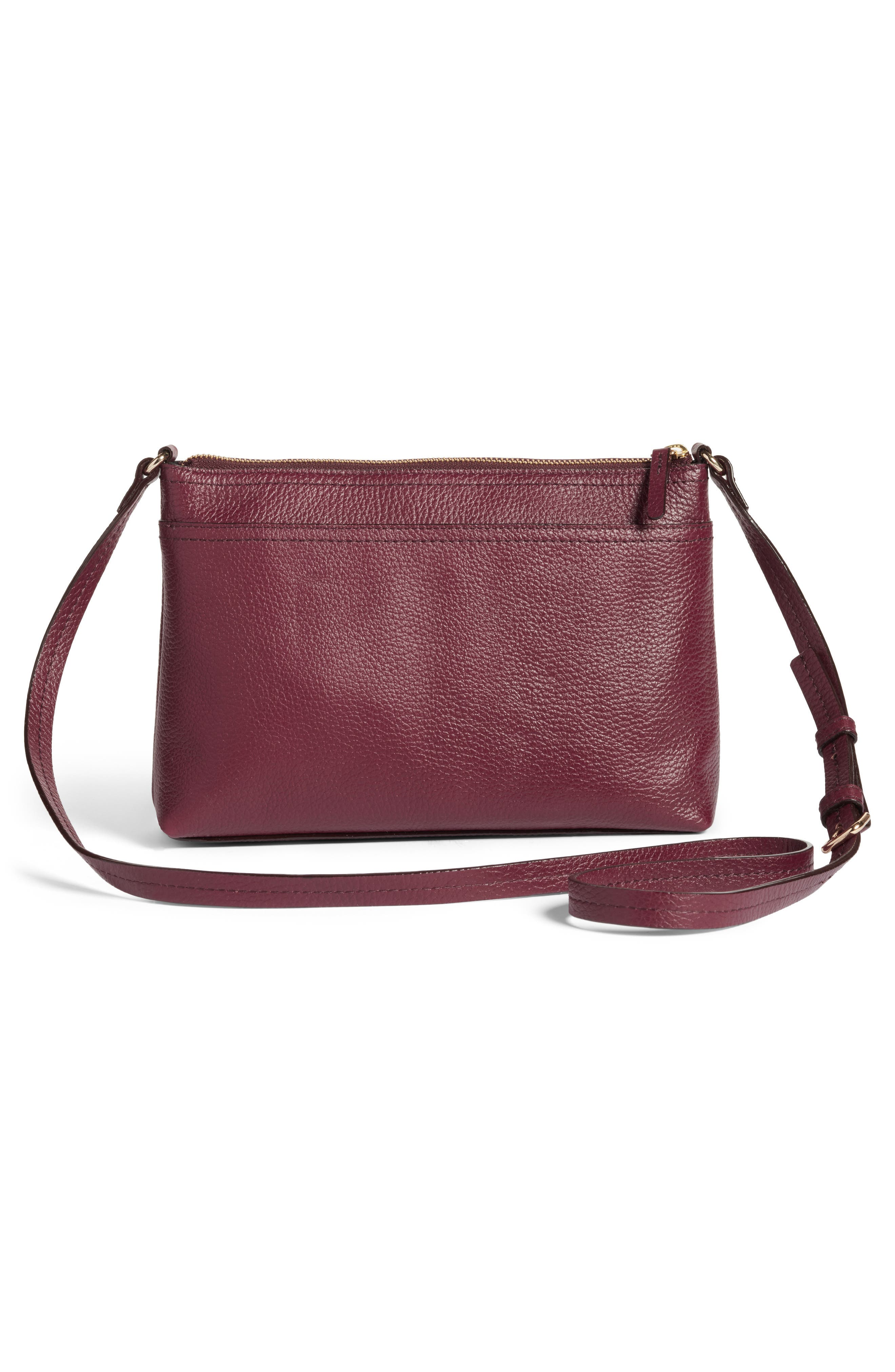 Pebbled Leather Crossbody Bag,                             Alternate thumbnail 12, color,