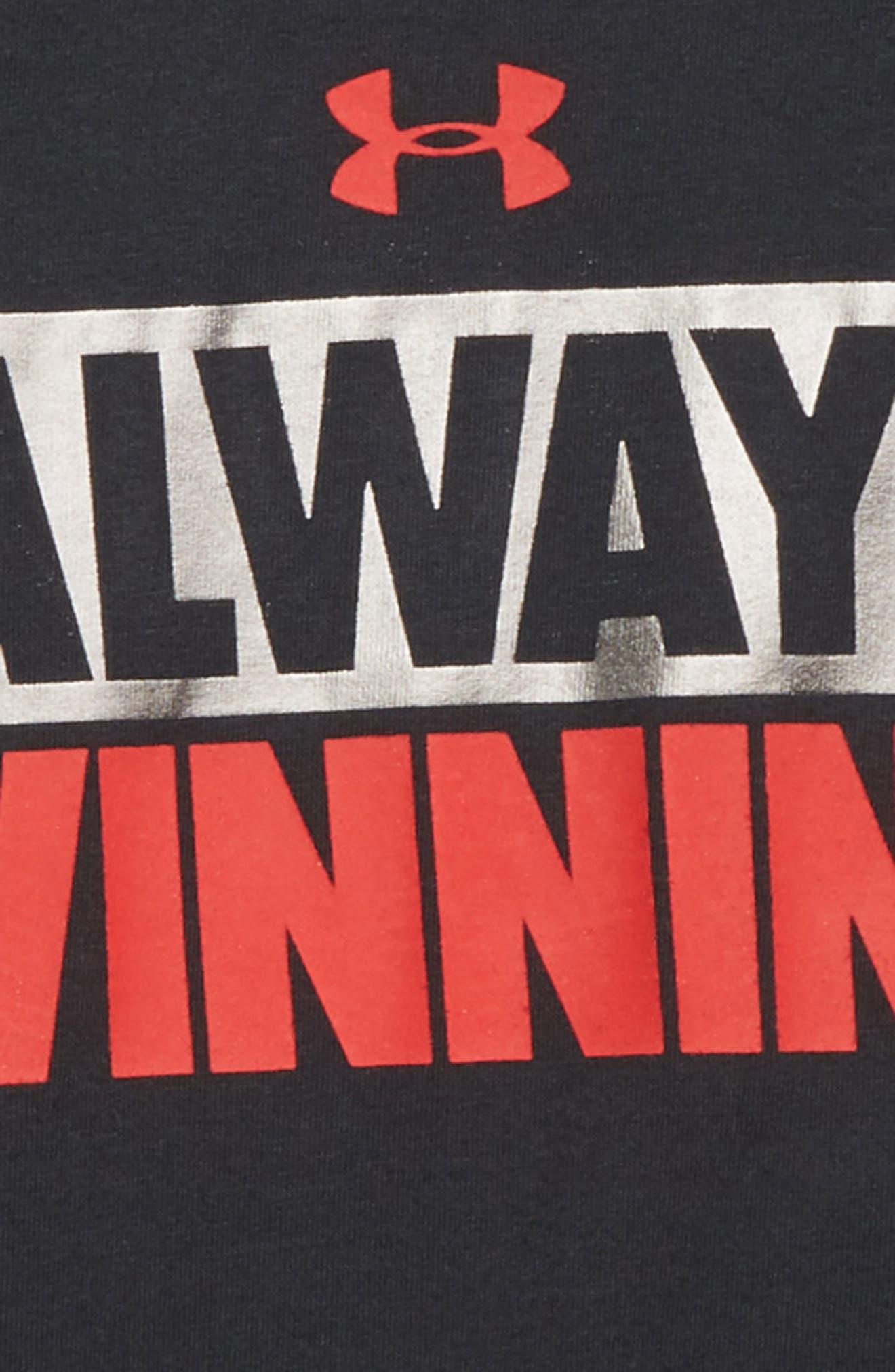 Always Winning Slider T-Shirt,                             Alternate thumbnail 2, color,                             BLACK