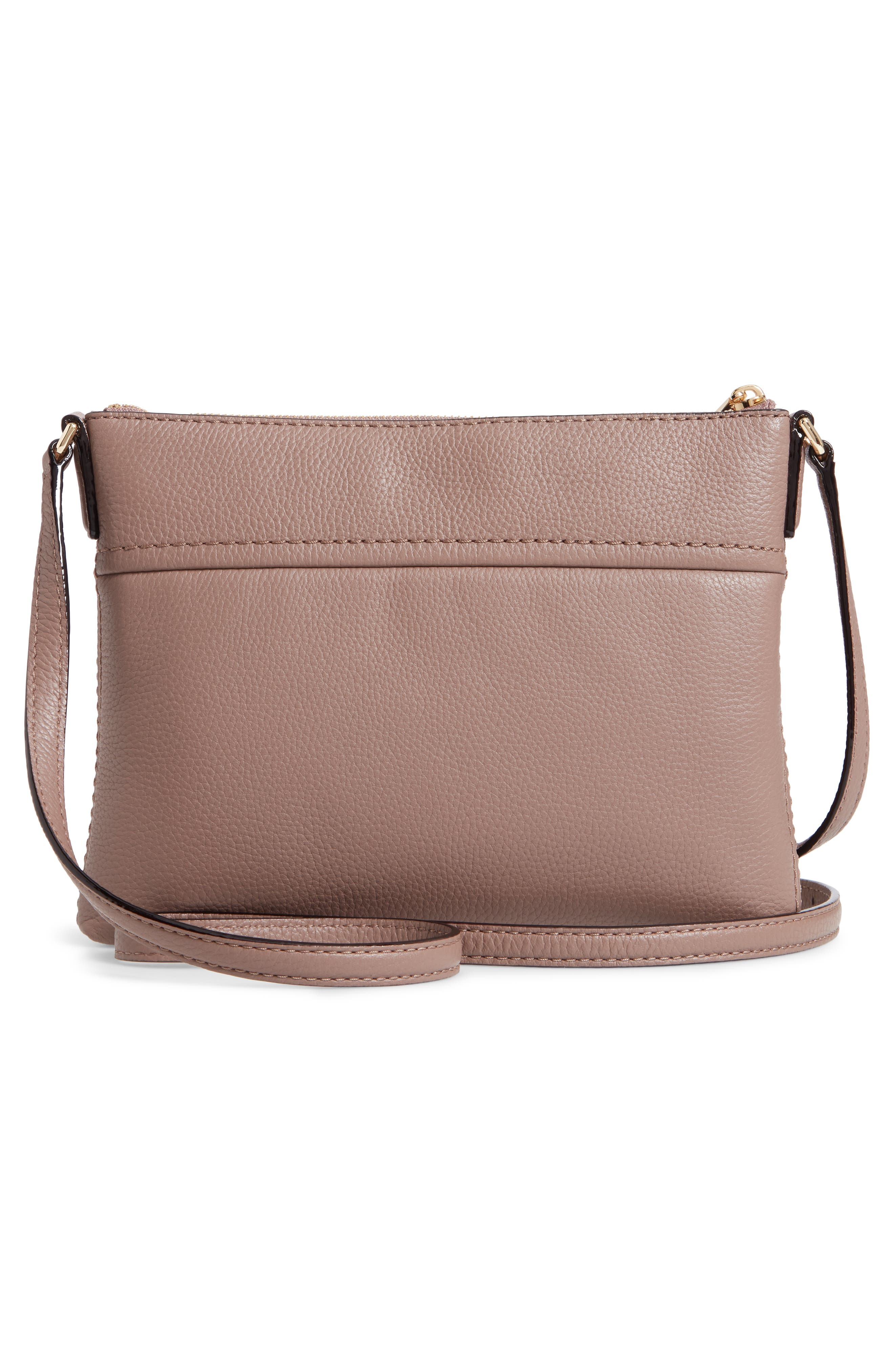 jackson street - gabriele leather crossbody bag,                             Alternate thumbnail 3, color,                             BROWNSTONE