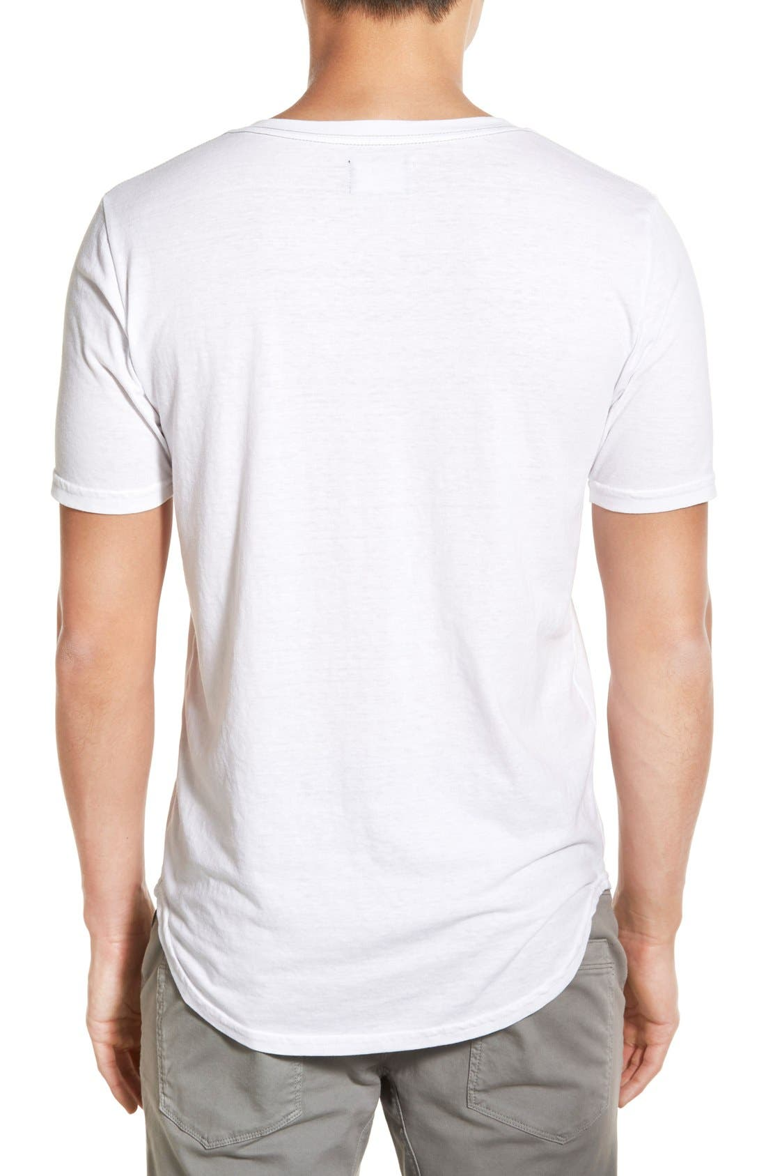 Scallop Triblend V-Neck T-Shirt,                             Alternate thumbnail 87, color,