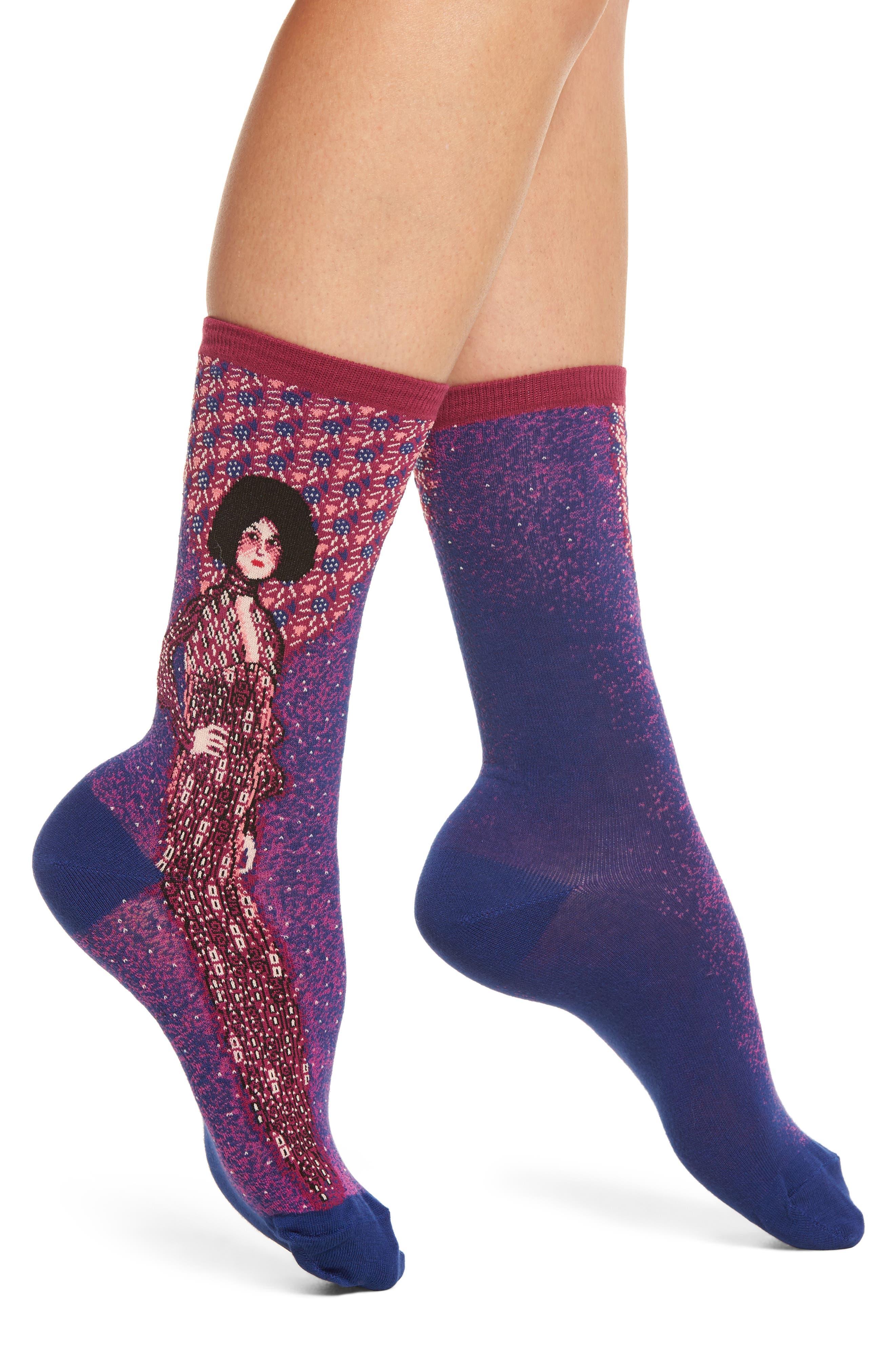 Portrait of Emilie Floge Crew Socks,                             Main thumbnail 1, color,                             411