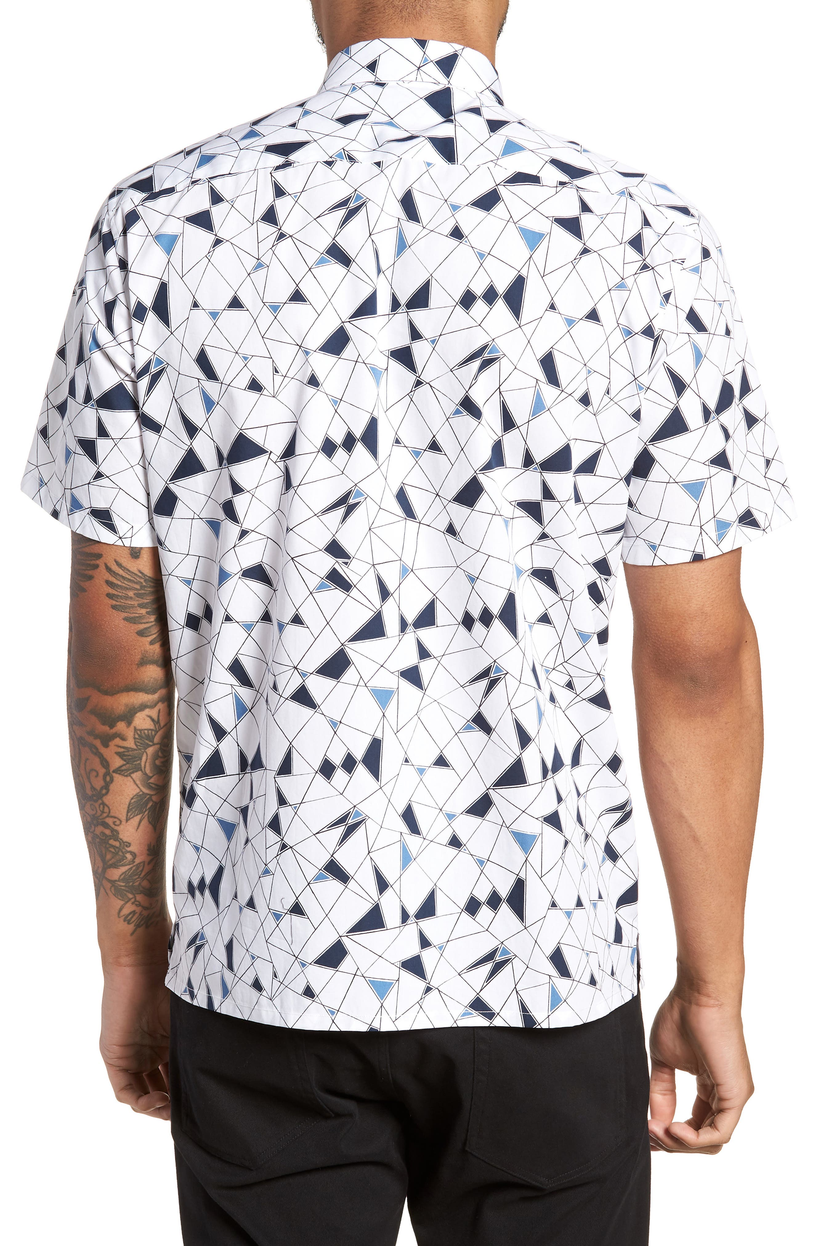 Murrary Trim Fit Geometric Short Sleeve Sport Shirt,                             Alternate thumbnail 2, color,                             424
