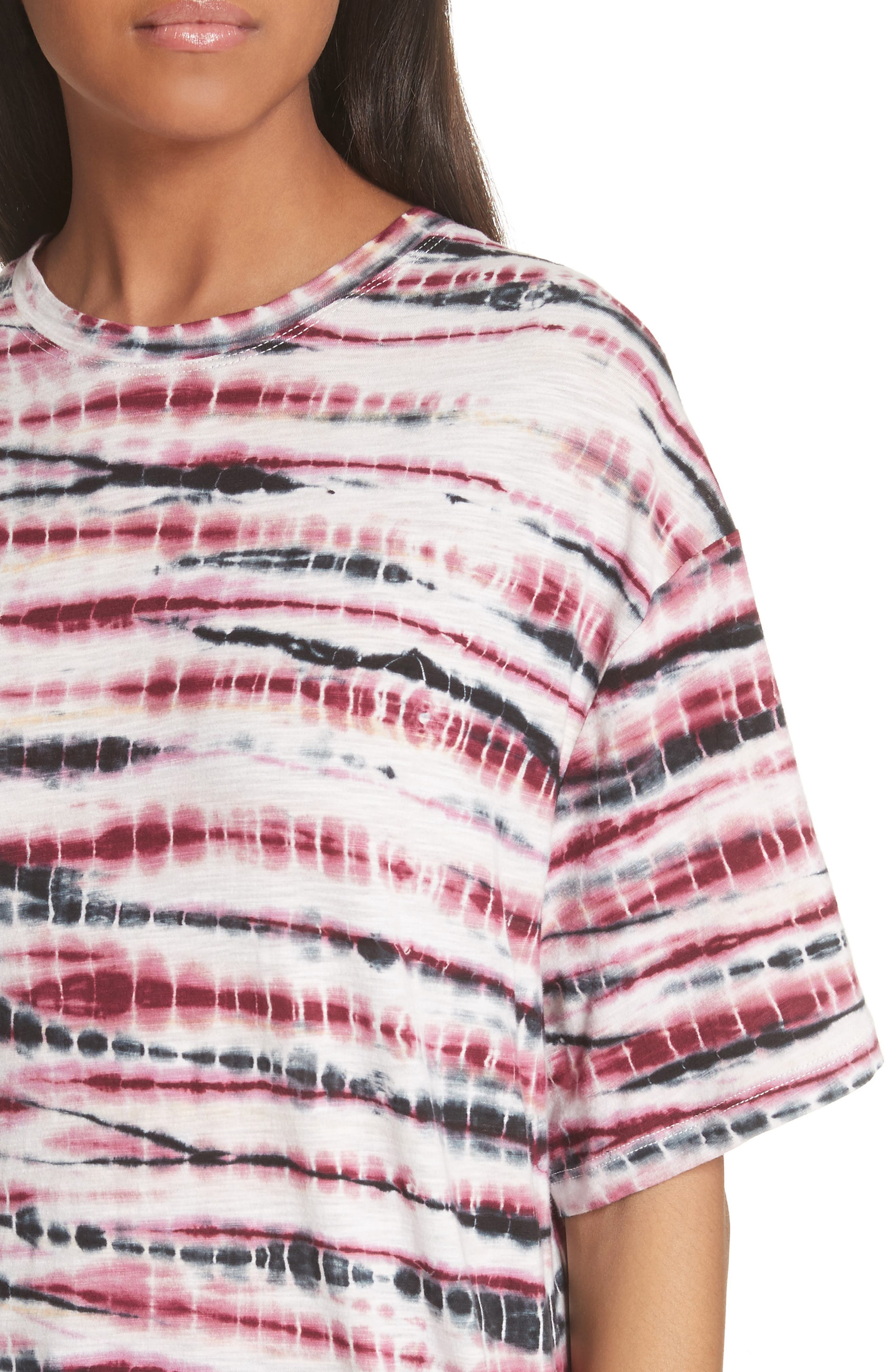 PROENZA SCHOULER,                             Tie Dye Tissue Jersey Tee,                             Alternate thumbnail 4, color,                             930